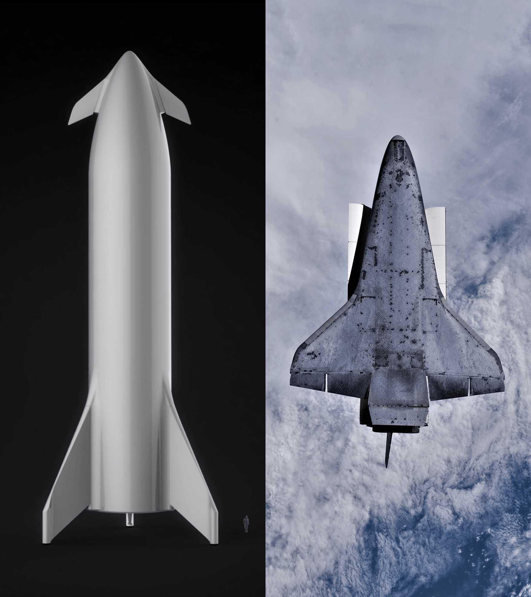 BFS 2018 vs Shuttle (SpaceX + NASA) (c)