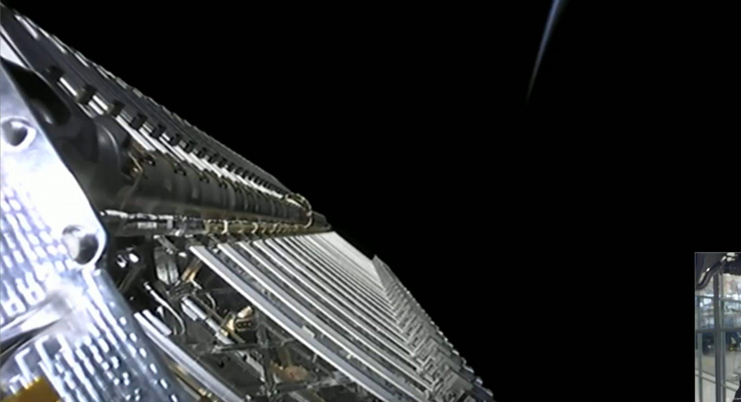 Starlink-9 BlackSky Falcon 9 B1051 080720 webcast (SpaceX) deploy 6