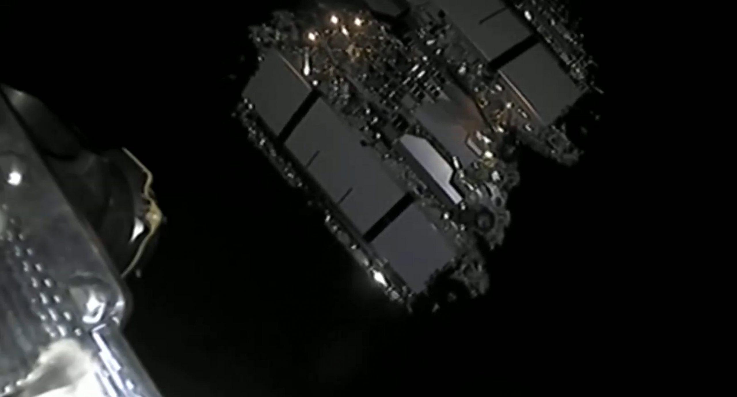 Starlink-9 BlackSky Falcon 9 B1051 080720 webcast (SpaceX) deploy 7