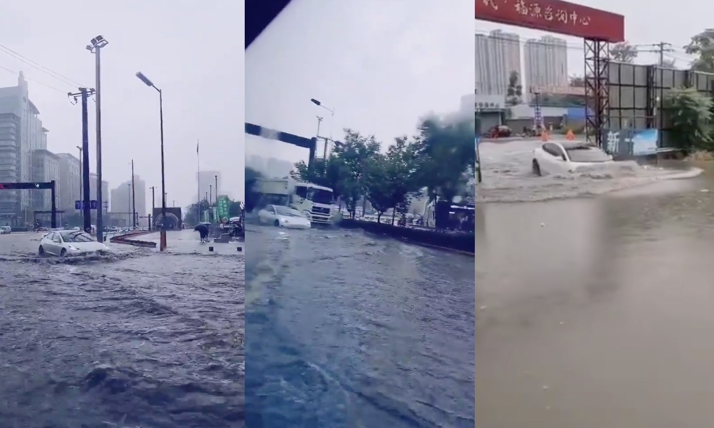 tesla-model-3-china-flooding