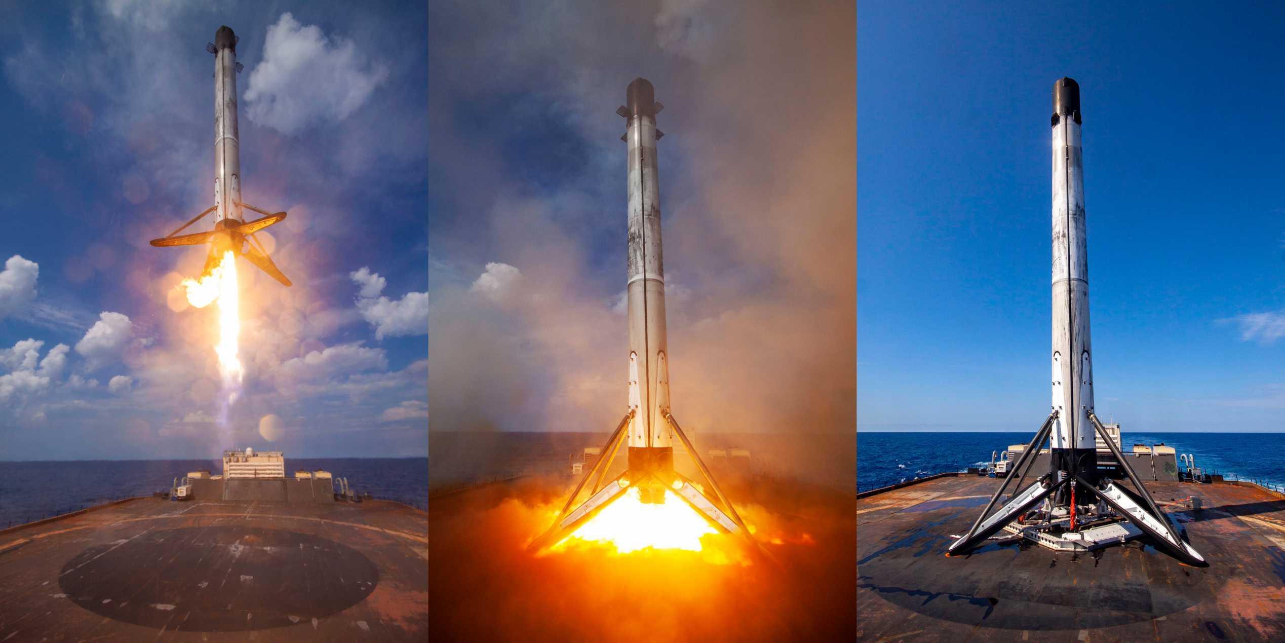 GPS III SV03 Falcon 9 B1060 063020 (SpaceX) landing (c)