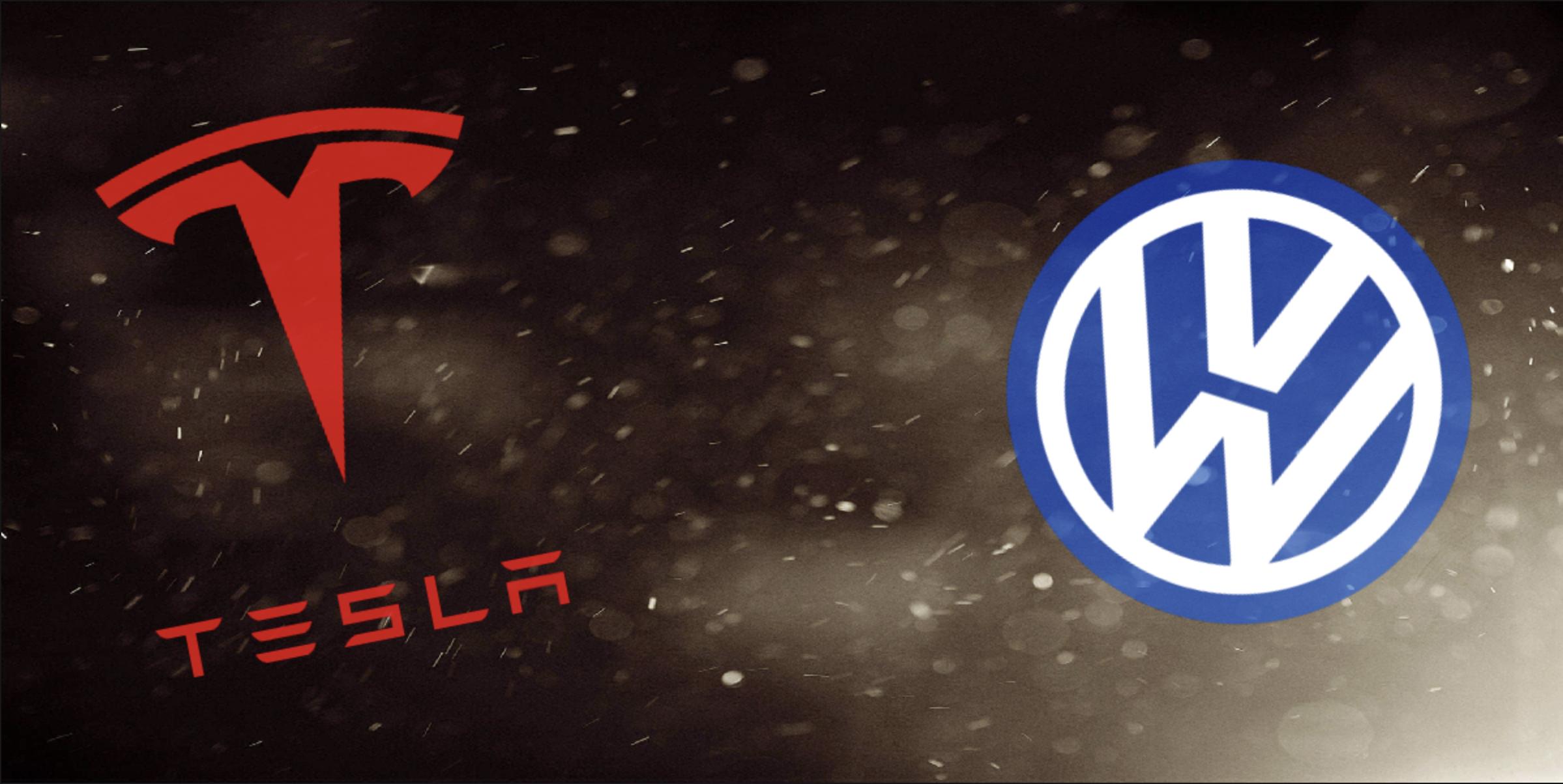 tesla-volkswagen-logo-background