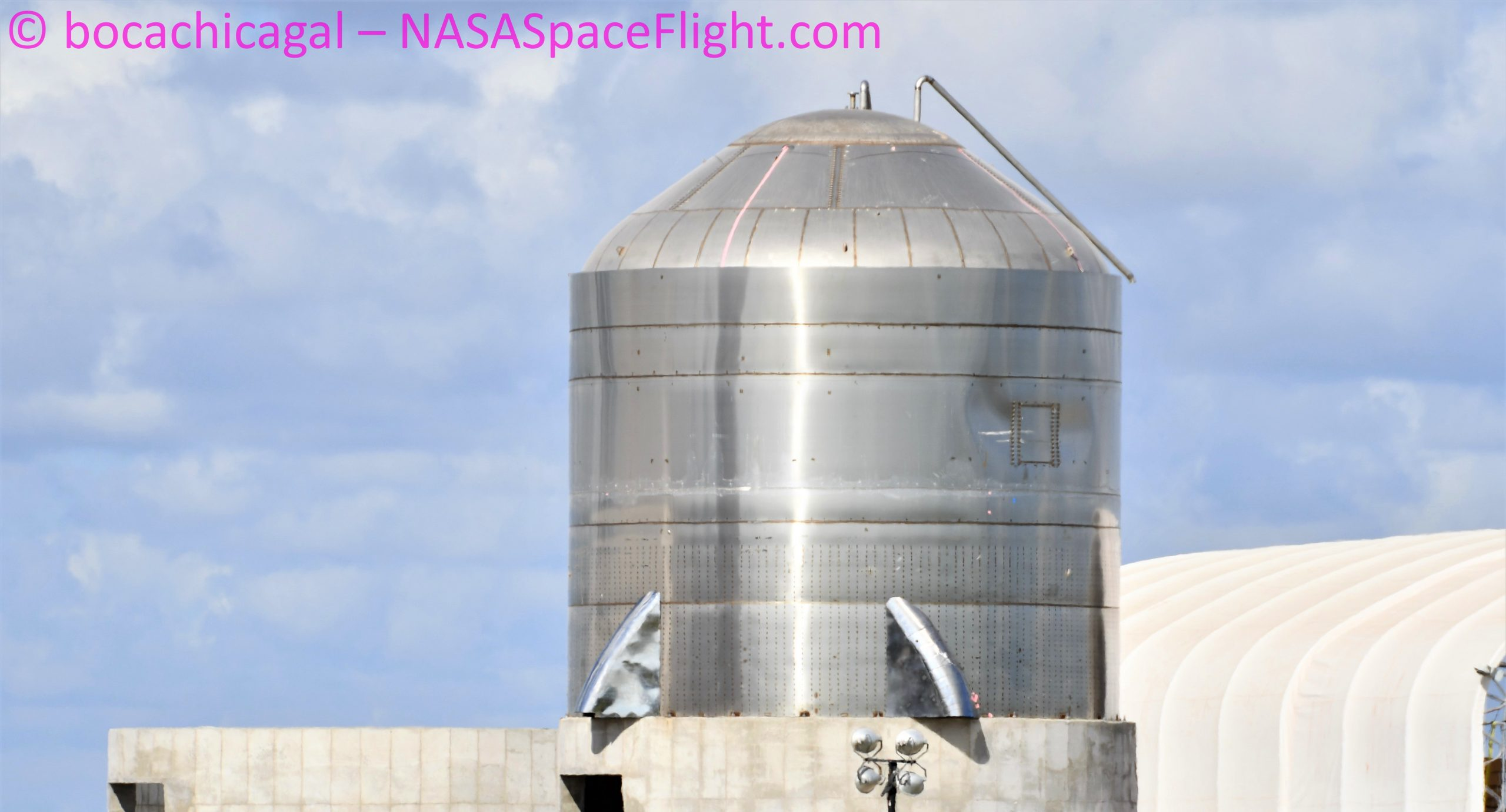 Starship Boca Chica 072320 (NASASpaceflight – bocachicagal) SN2 test tank mods 1 crop