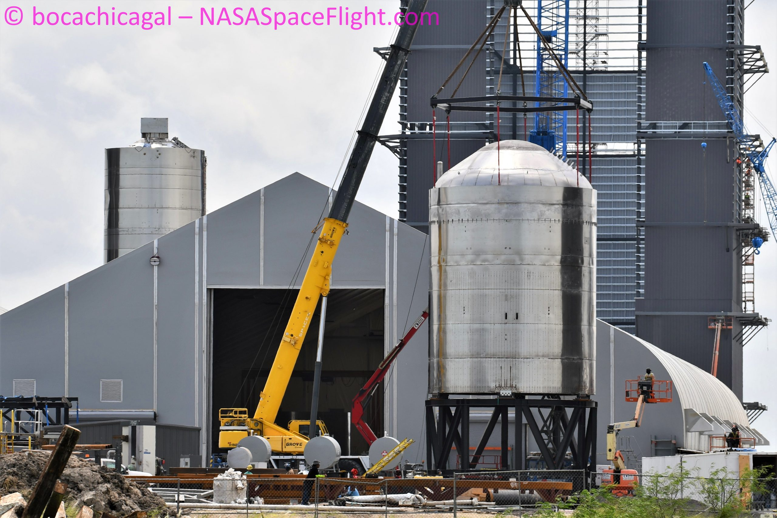 Starship Boca Chica 083020 (NASASpaceflight – bocachicagal) SN7.1 test tank 1