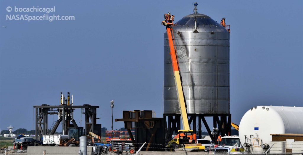 SpaceX Starship test tank ready for a second shot at destruction