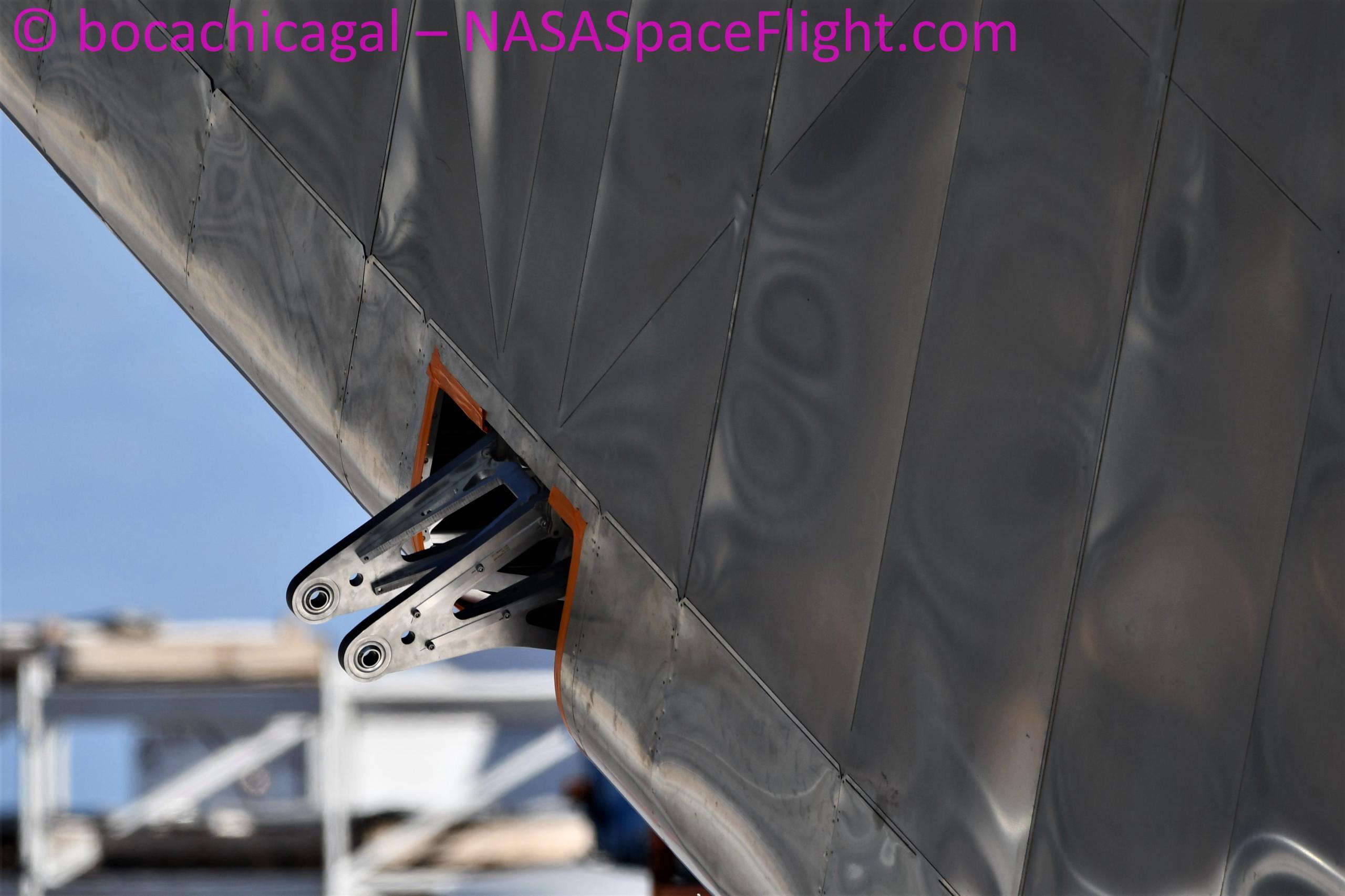 Starship Boca Chica 092220 (NASASpaceflight – bocachicagal) SN8 flap install 3 (c)