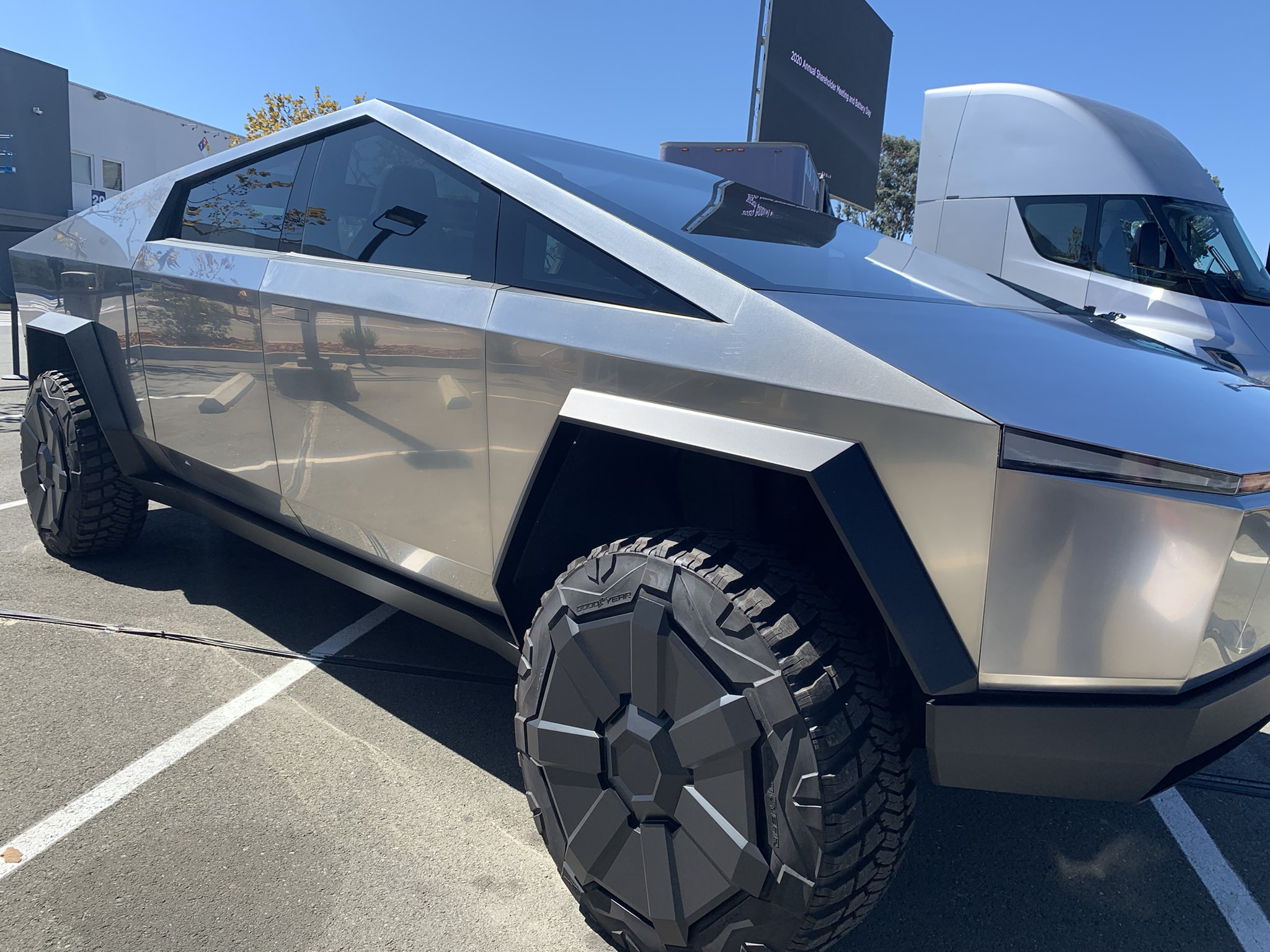 Tesla Cybertruck at Tesla Battery Day 2020
