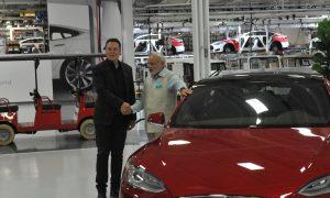 Tesla CEO Elon Musk with India Prime Minister Narendra Modi