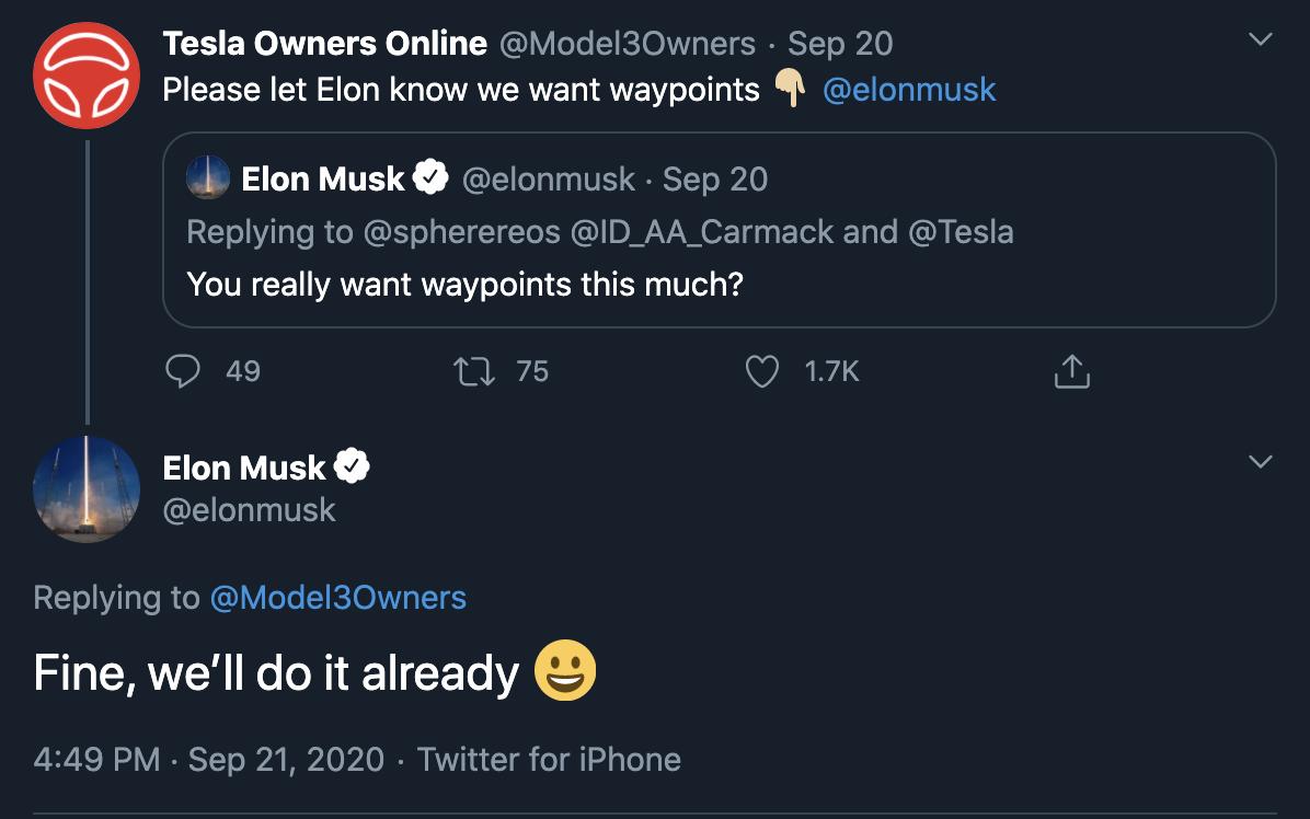 tesla-musk-confirms-waypoints-tweet