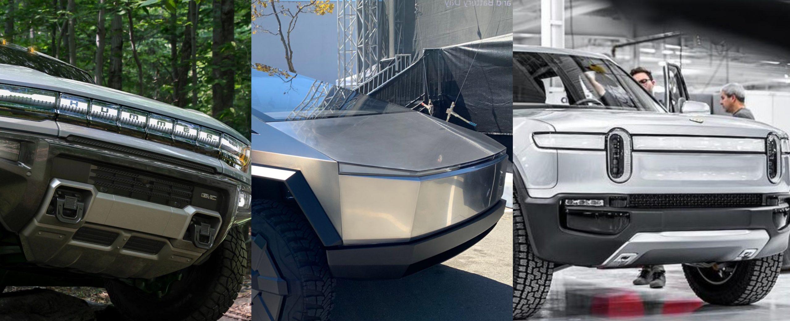 GM-Hummer-EV-Tesla-Cybertruck-Rivian-R1T