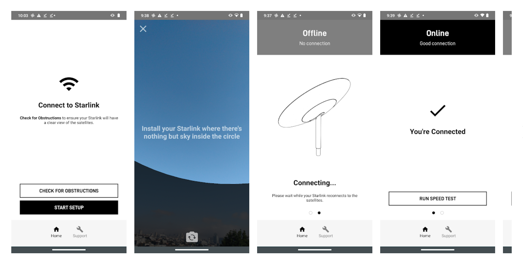 Starlink Android app Oct 2020 (SpaceX) 2