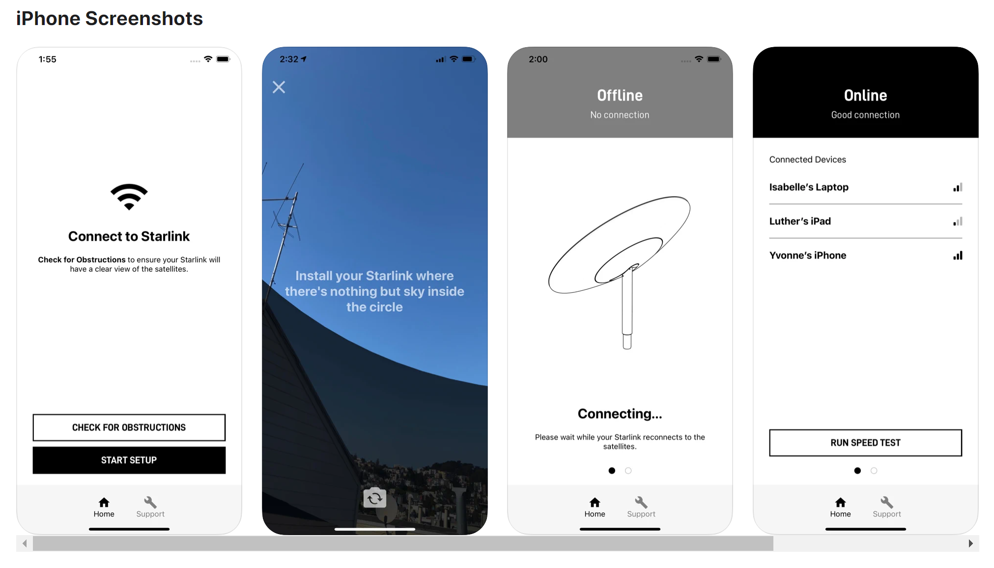 Starlink iOS app Oct 2020 (SpaceX) 1