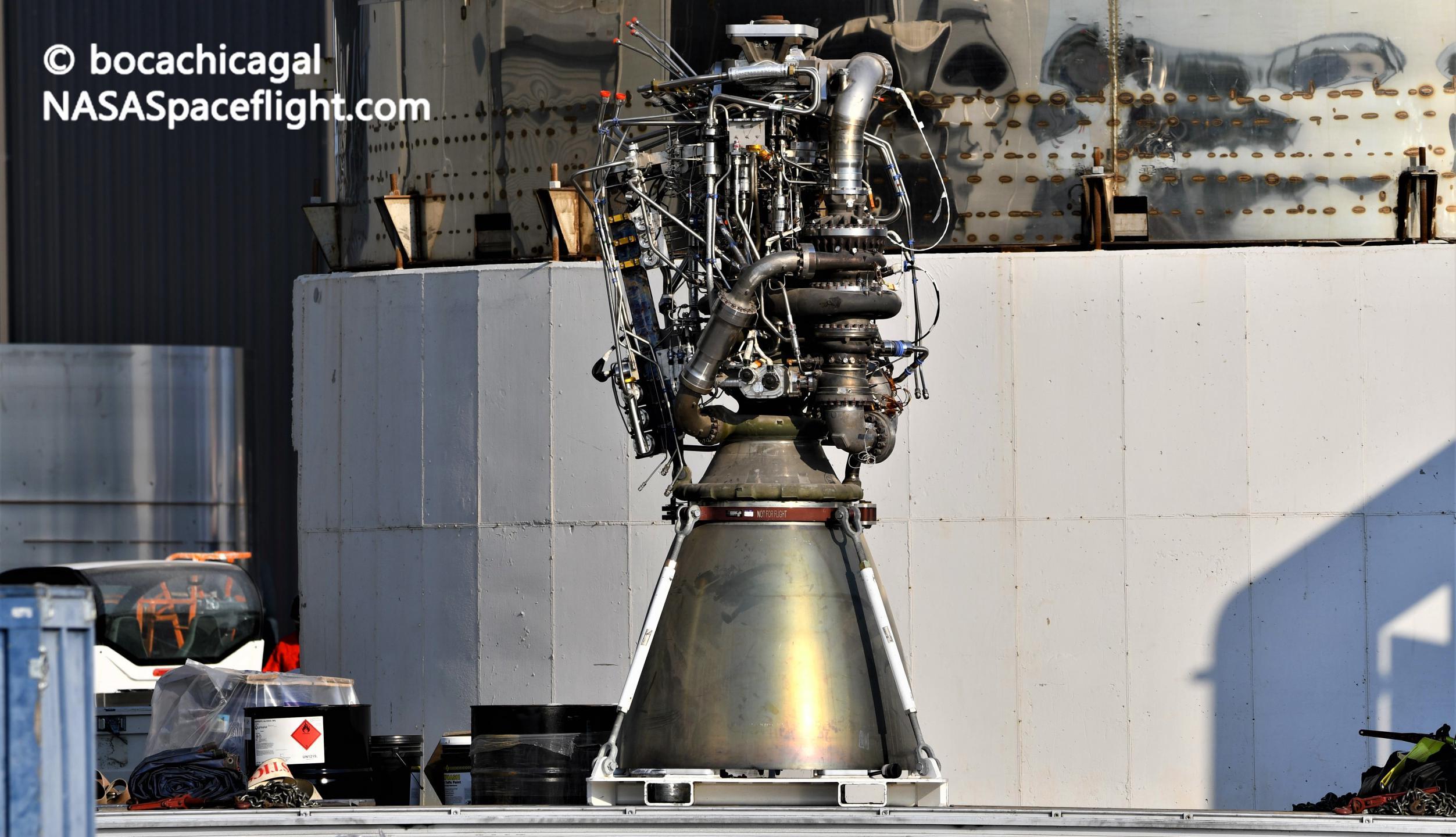 Starship Boca Chica 100220 (NASASpaceflight – bocachicagal) Raptor SN29 1 crop (c)