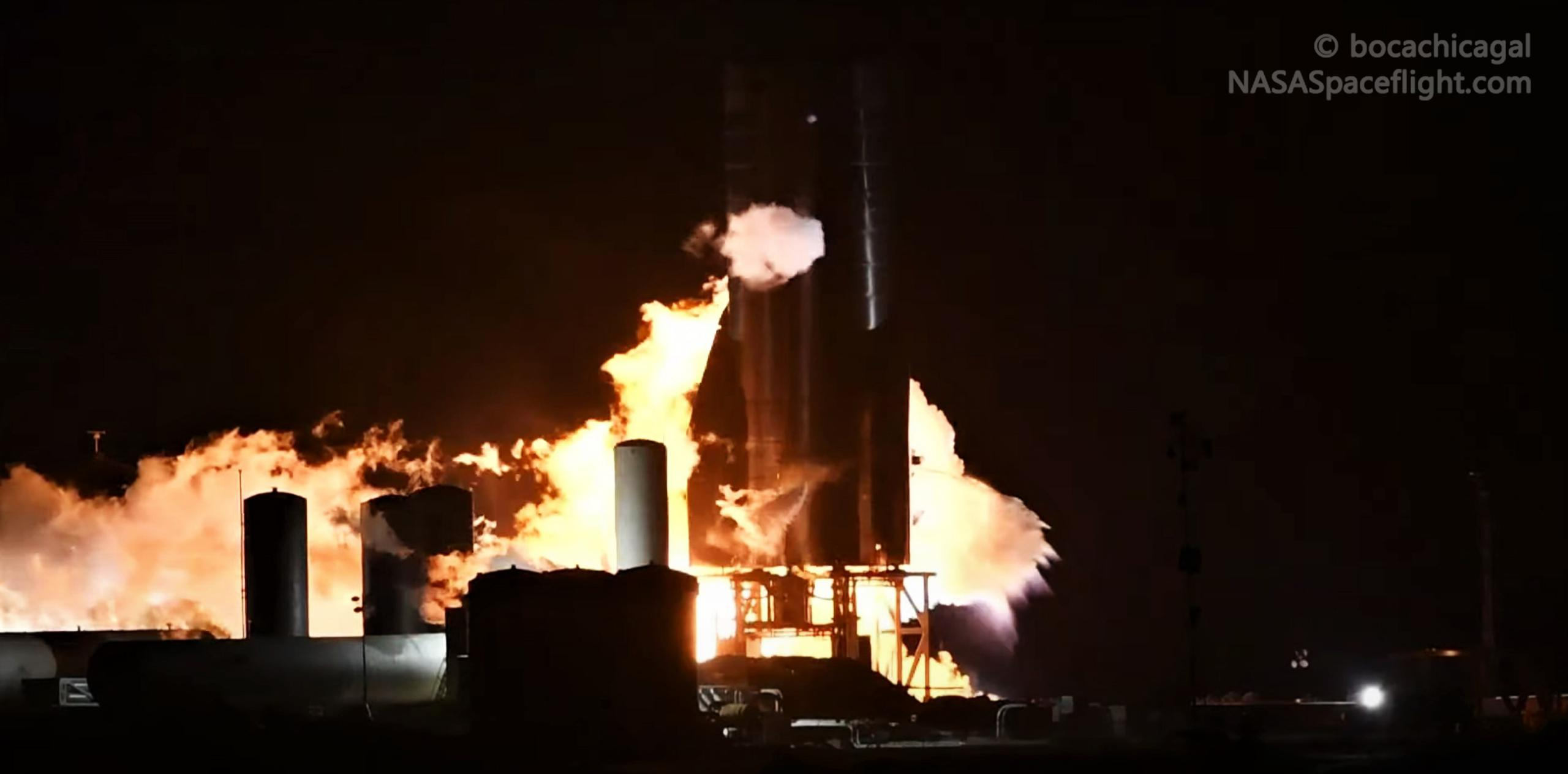 Starship Boca Chica 101920 (NASASpaceflight – bocachicagal) SN8 preburner test 1 (c)