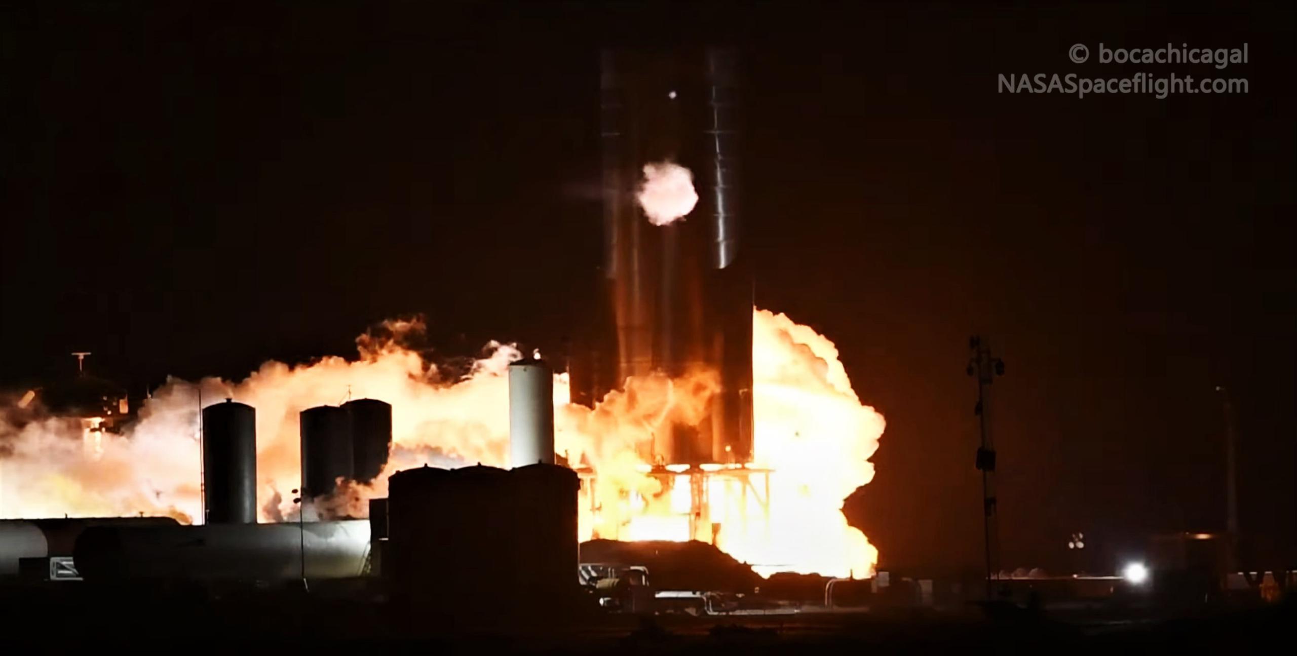 Starship Boca Chica 101920 (NASASpaceflight – bocachicagal) SN8 preburner test 4 (c)