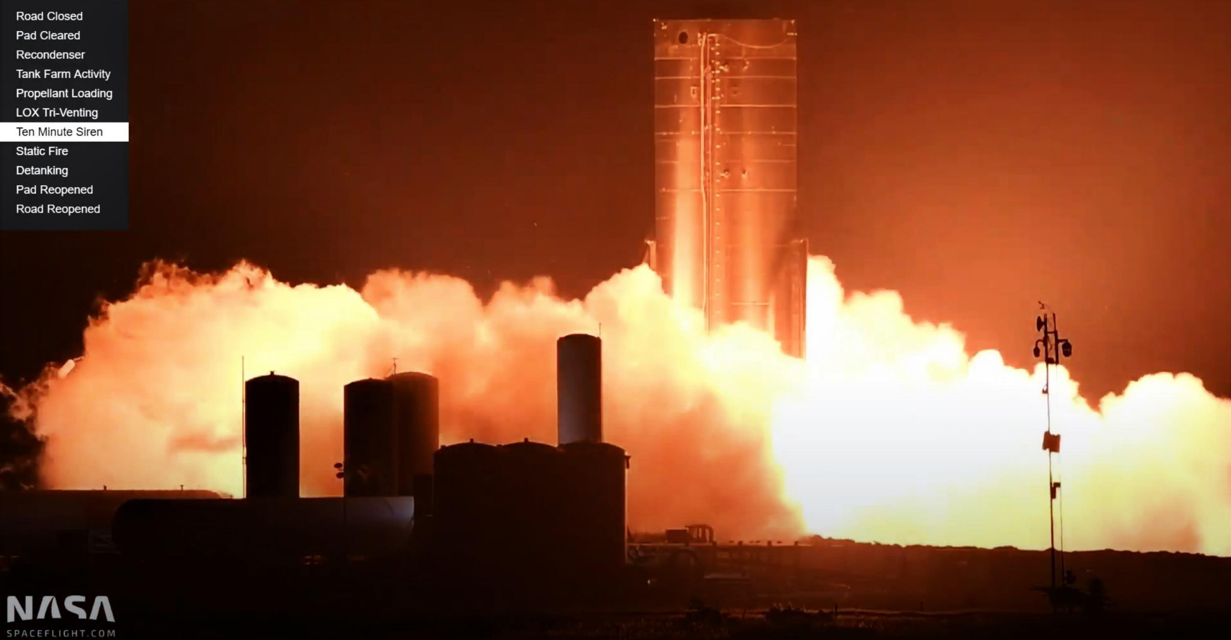 Starship Boca Chica 102020 (NASASpaceflight – bocachicagal) SN8 static fire 3 (c)