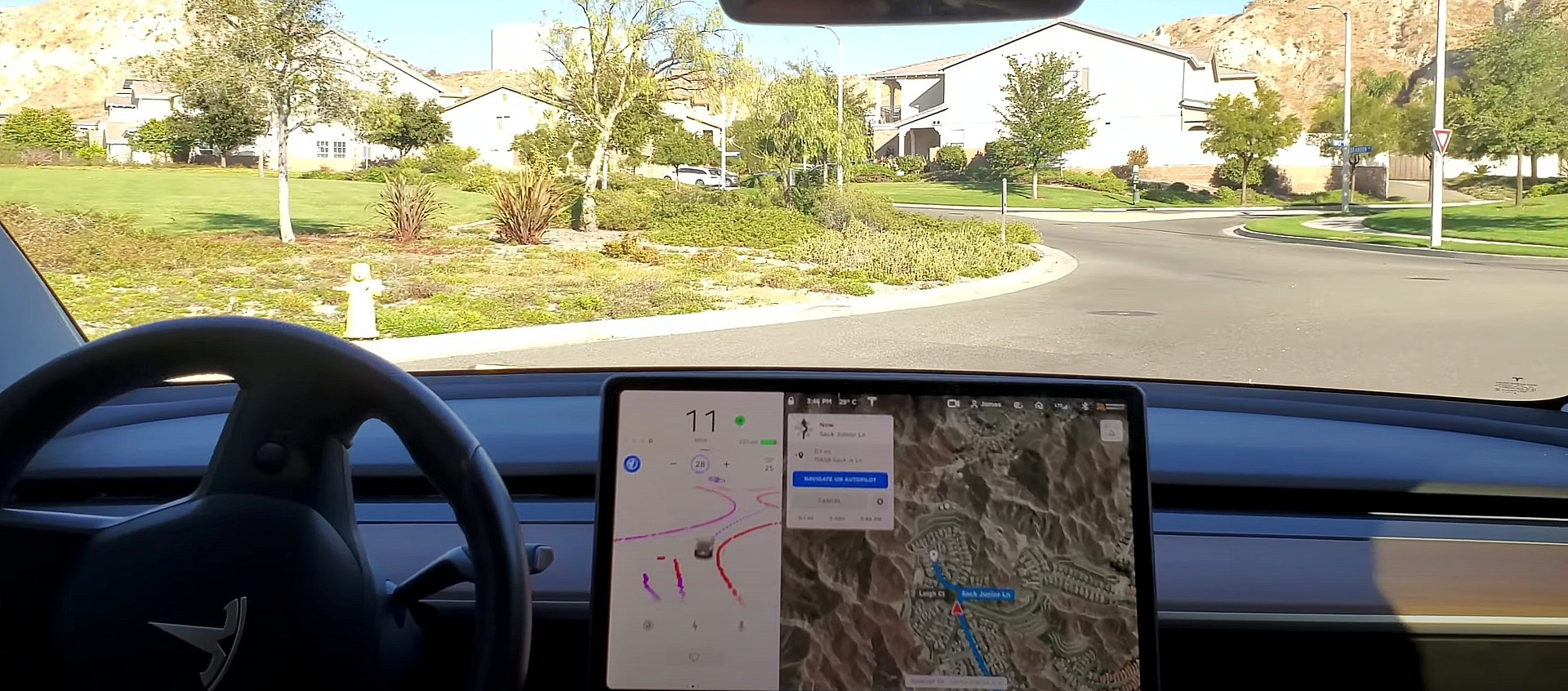 tesla-dojo-roundabout-4d-autopilot-fsd-beta