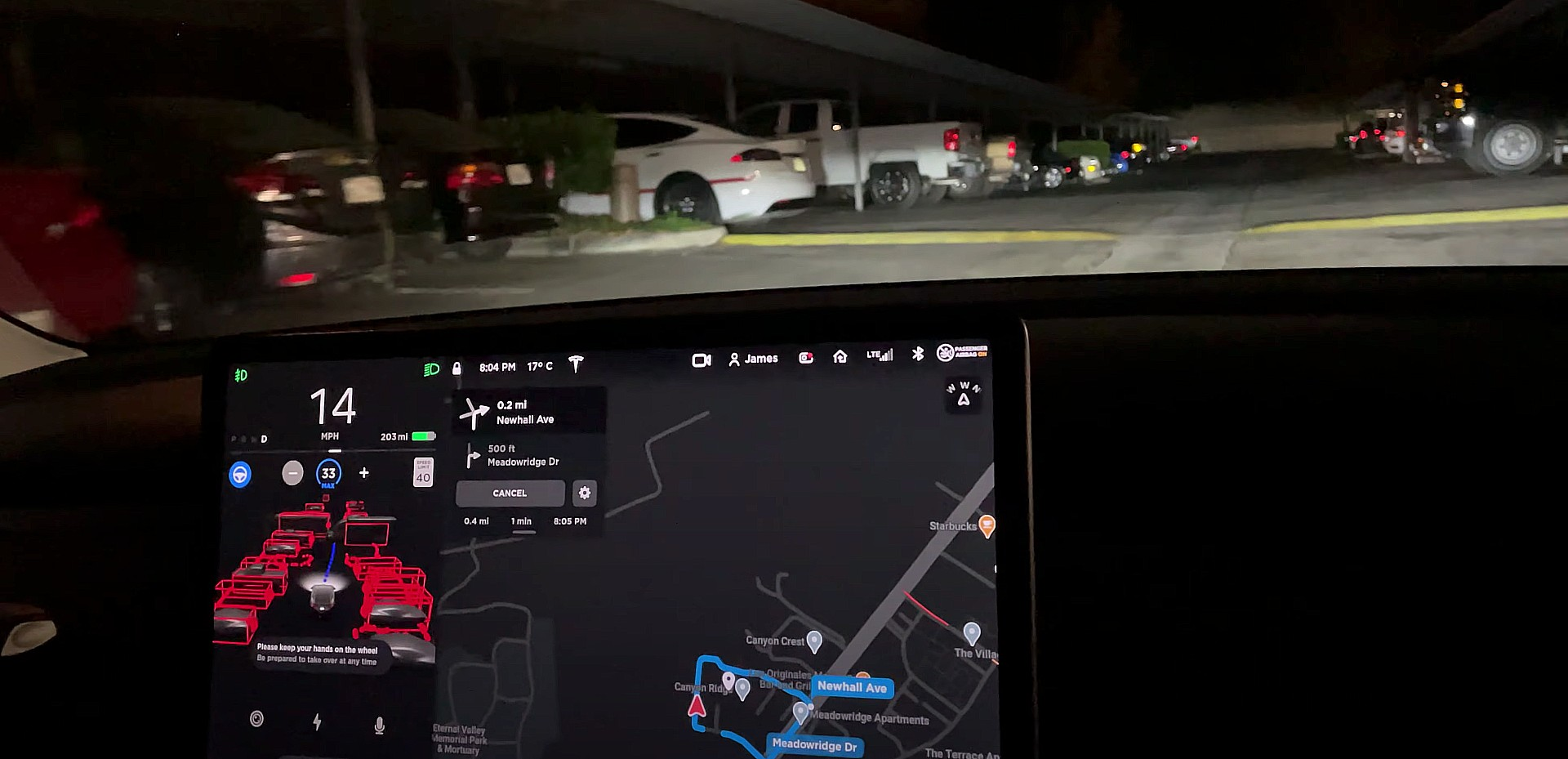 tesla-fsd-beta-video-speed-bumps-parking-lot