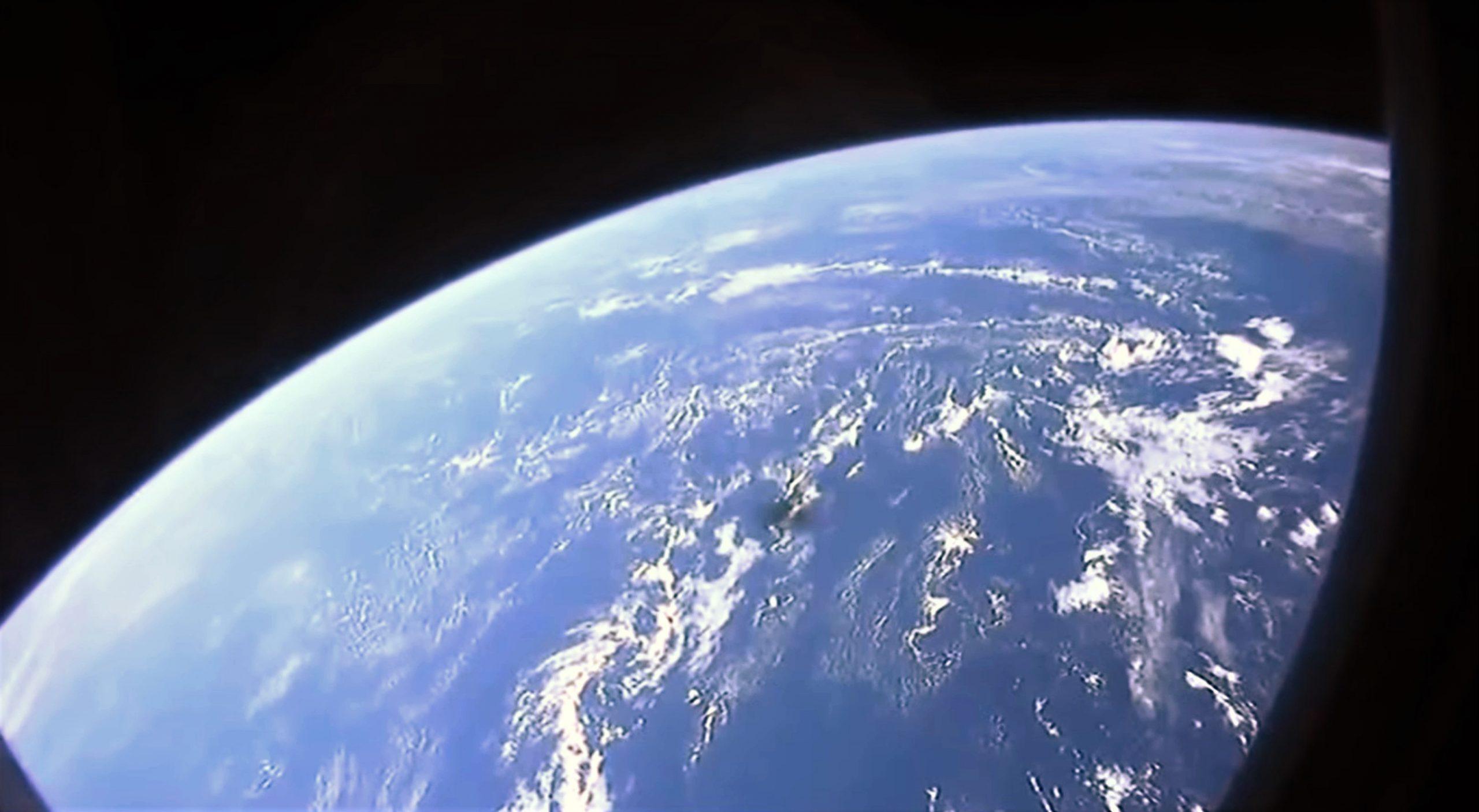 Crew-1 Crew Dragon C207 Falcon 9 B1061 webcast 111620 (NASA) window view 1