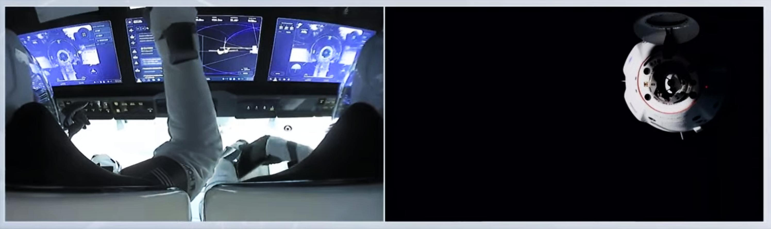 Crew-1 Crew Dragon C207 webcast 111620 (NASA) ISS approach 9