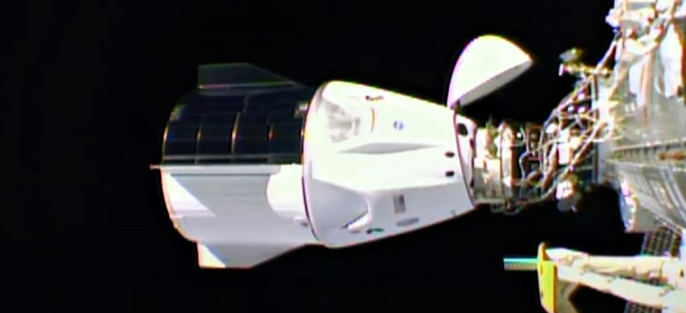 Crew-1 Crew Dragon C207 webcast 111620 (NASA) ISS docked 2