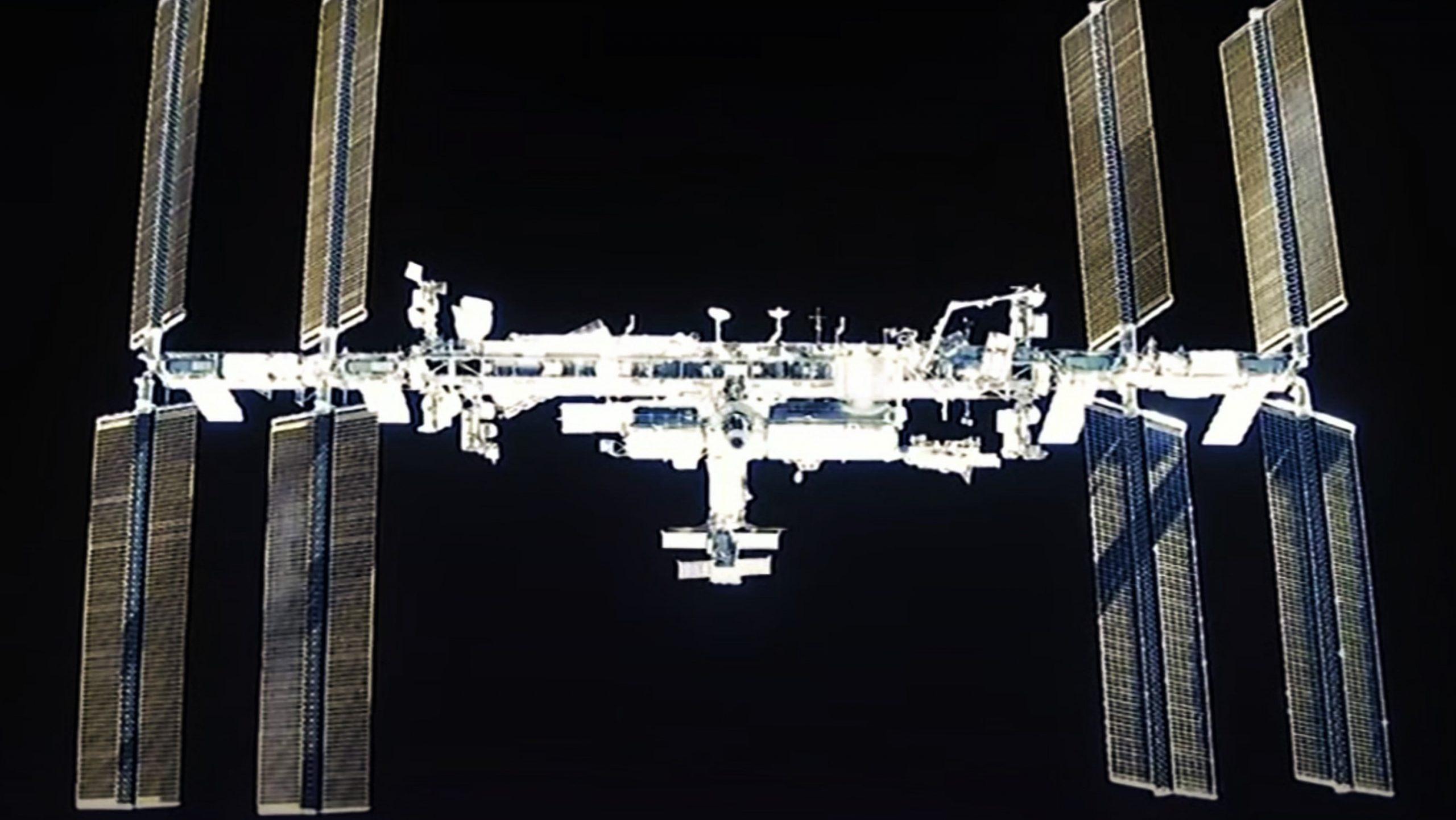Crew-1 Crew Dragon C207 webcast 111620 (NASA) ISS view 1