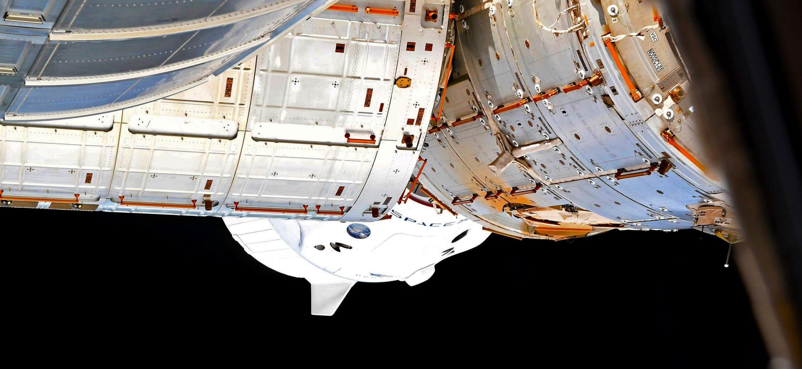 Crew Dragon Crew-1 ISS ops 111620 (Sergey Kud-Sverchkov) docked 1 crop (c)