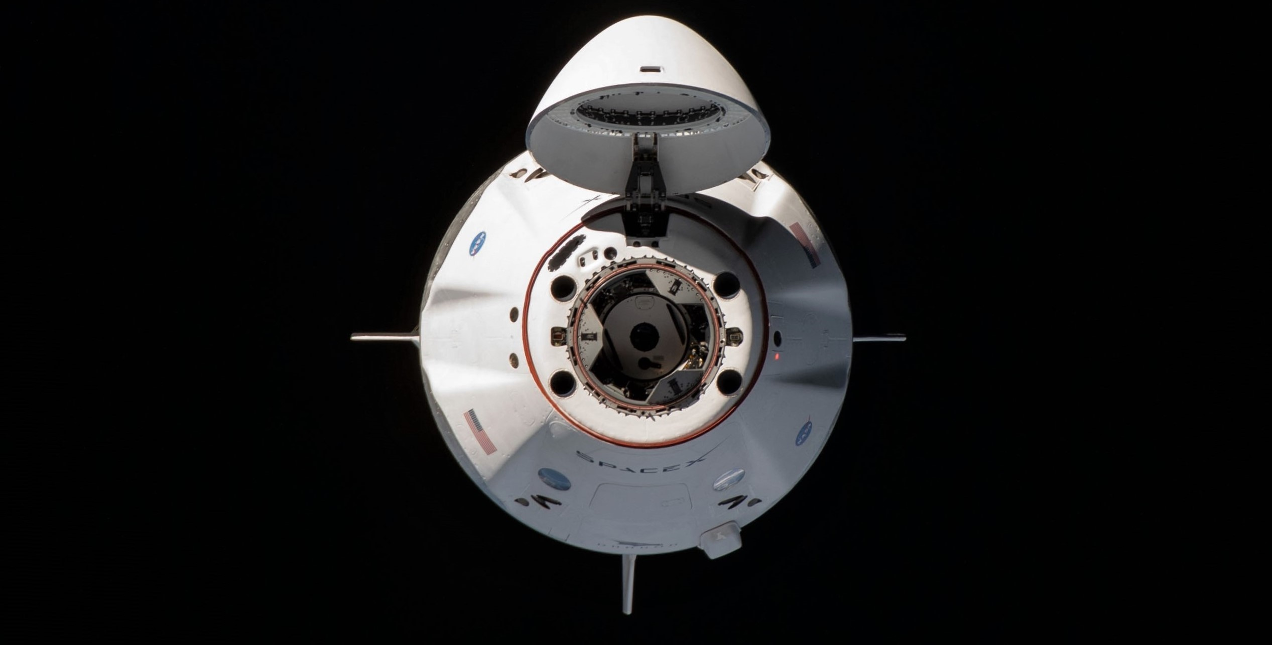 Crew Dragon Crew-1 orbital ops 111620 (NASA) ISS approach 1 crop 2