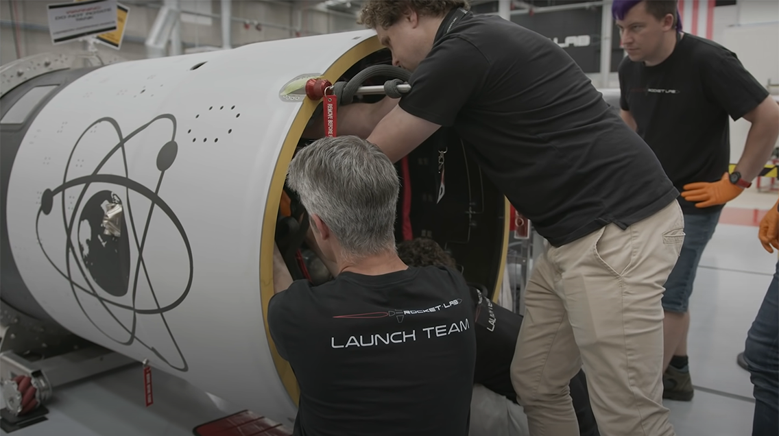 Rocket Lab Electron recovery