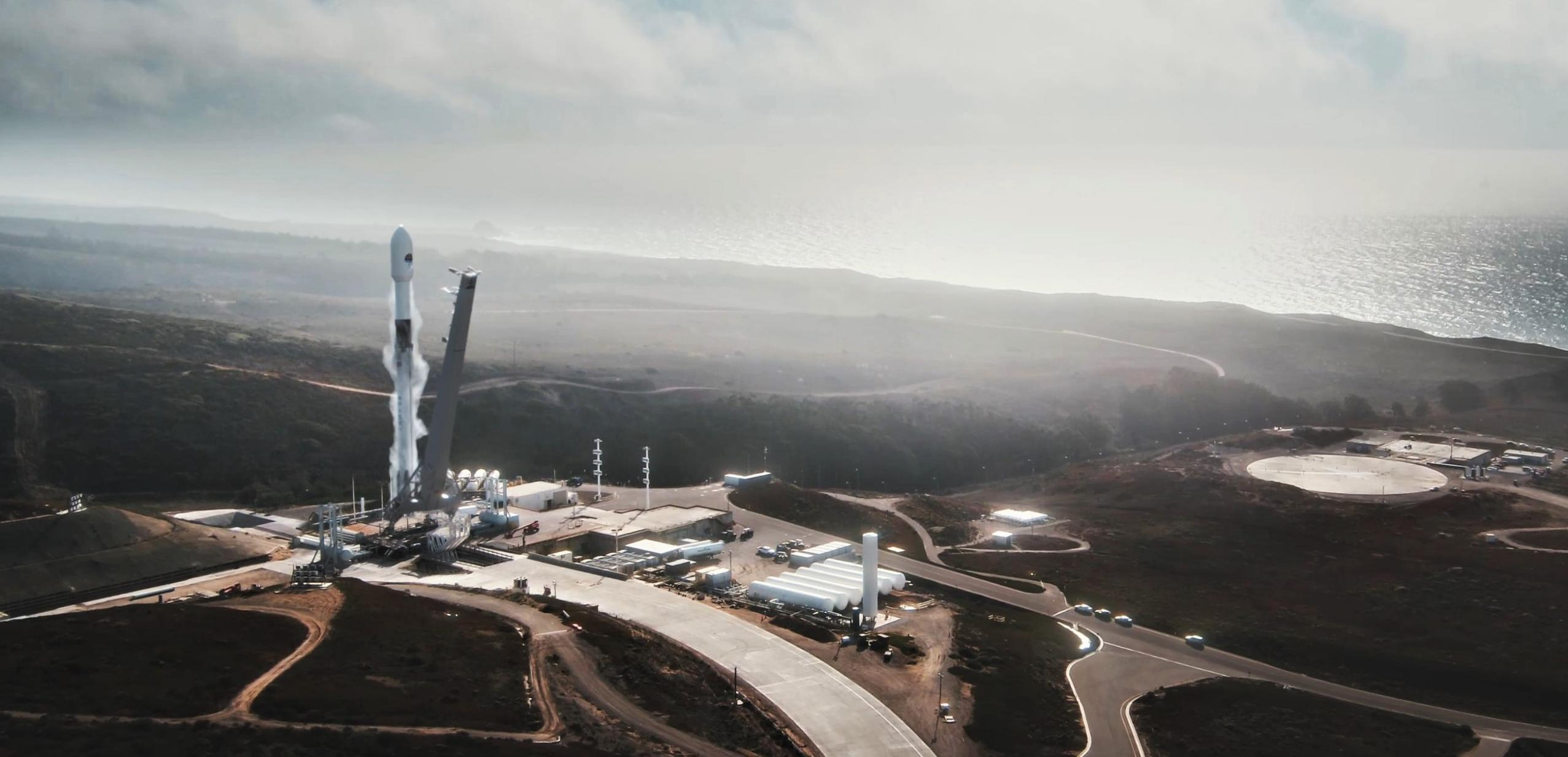 Sentinel 6A Falcon 9 SLC-4E launch animation (SpaceX) 1 edit (c)