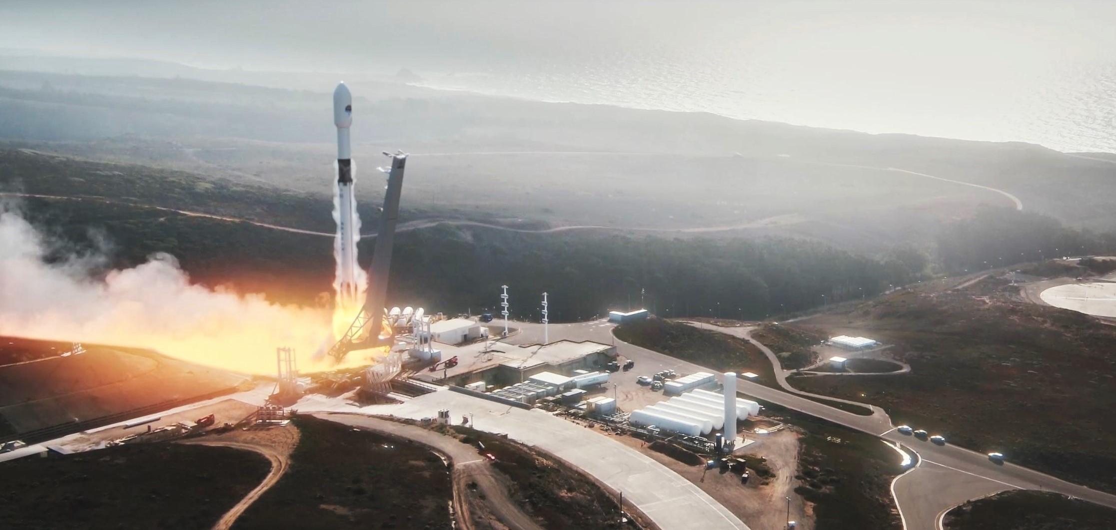 Sentinel 6A Falcon 9 SLC-4E launch animation (SpaceX) 2 crop 1