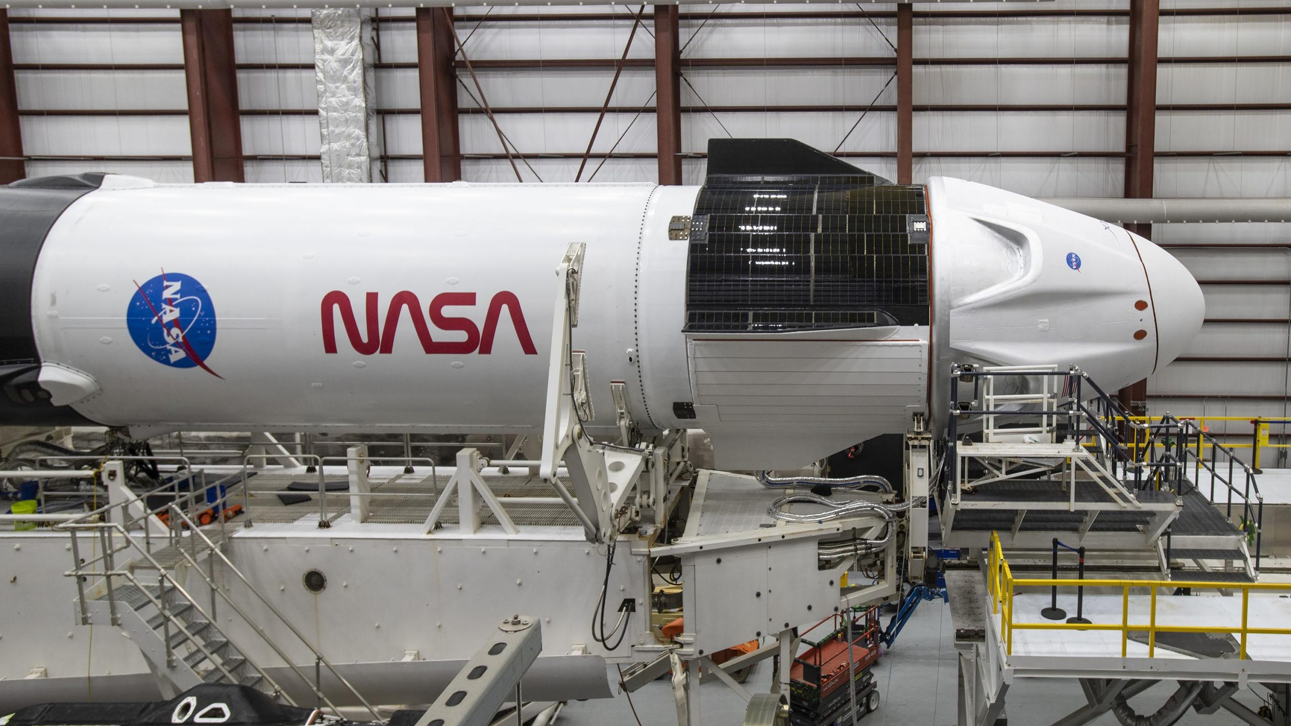 SpaceX NASA Crew 1 Resilience Dragon worm header