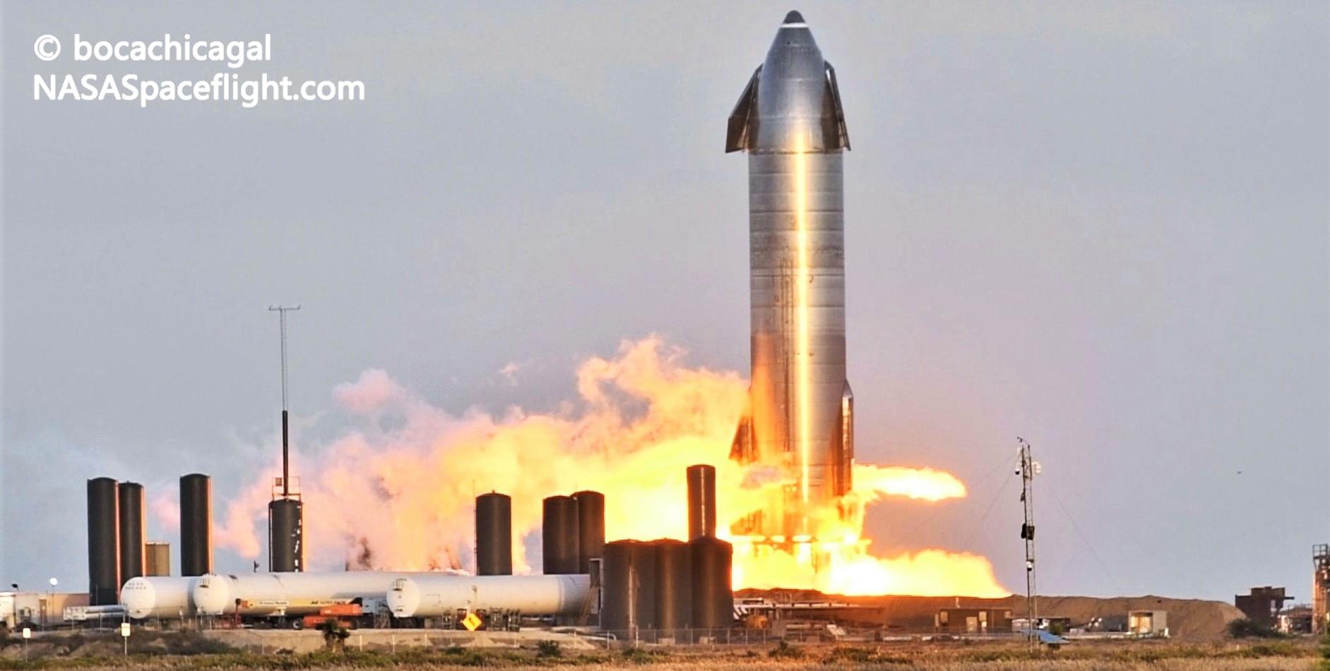 Starship Boca Chica 112420 (NASASpaceflight – bocachicagal) SN8 static fire #4 4