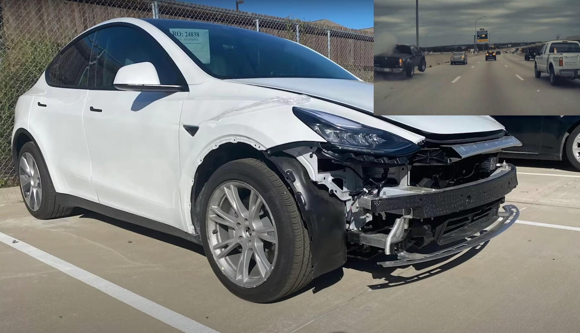 Tesla-Model-Y-sends-Nissan-truck-flying