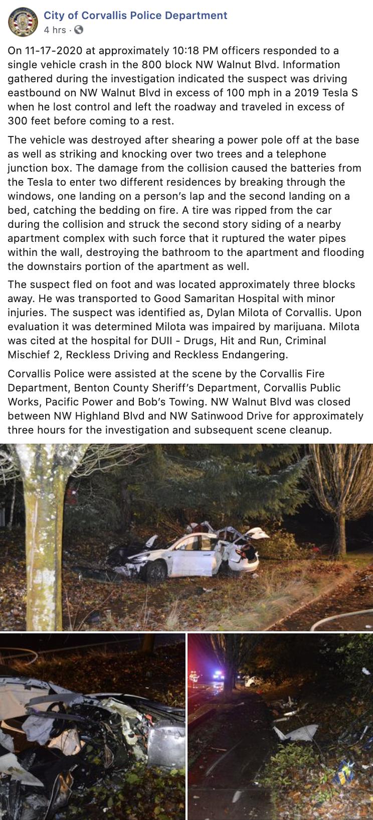tesla-model-s-crash-corvallis-pd-facebook