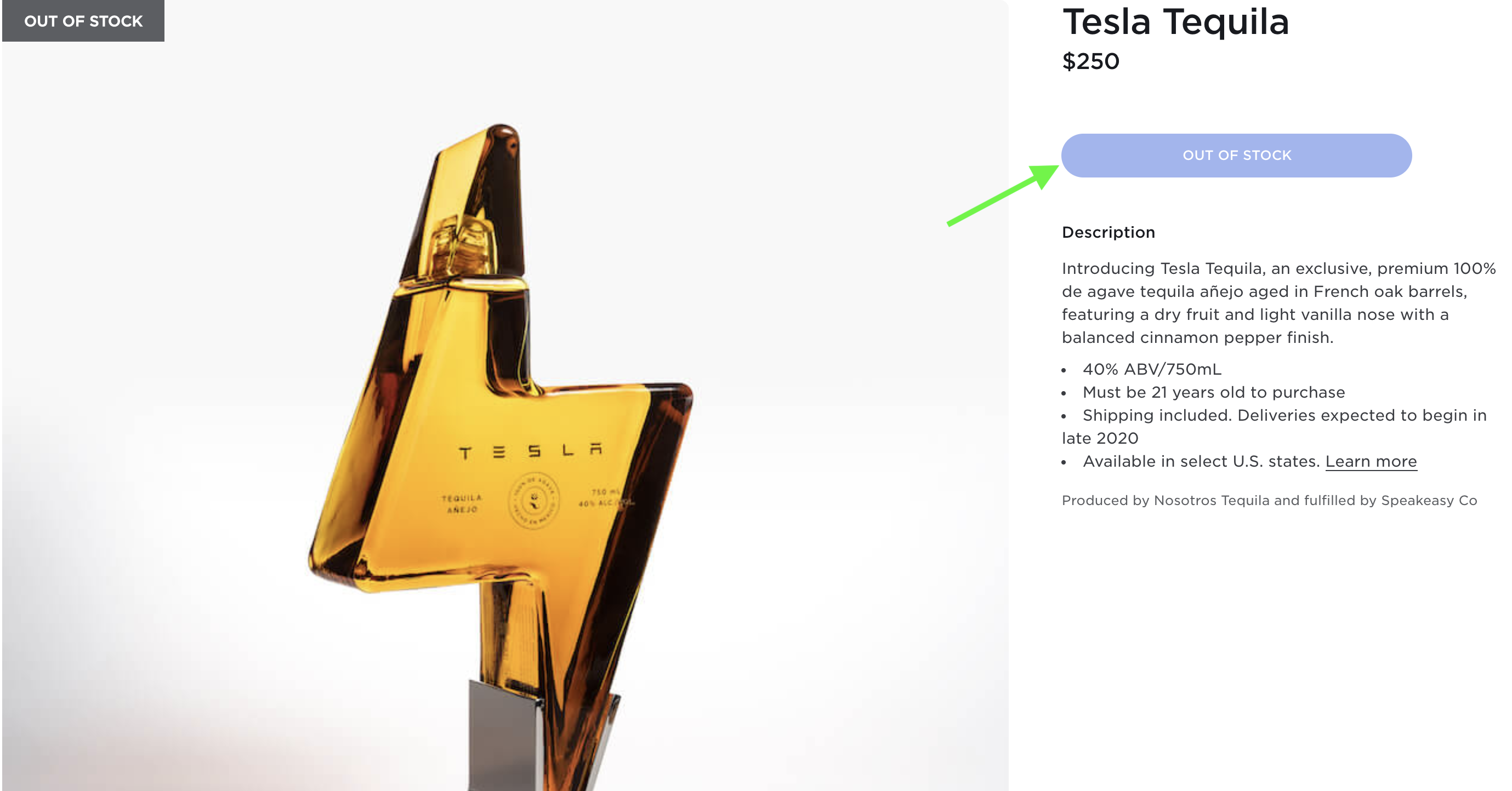 tesla-tequila-out-of-stock