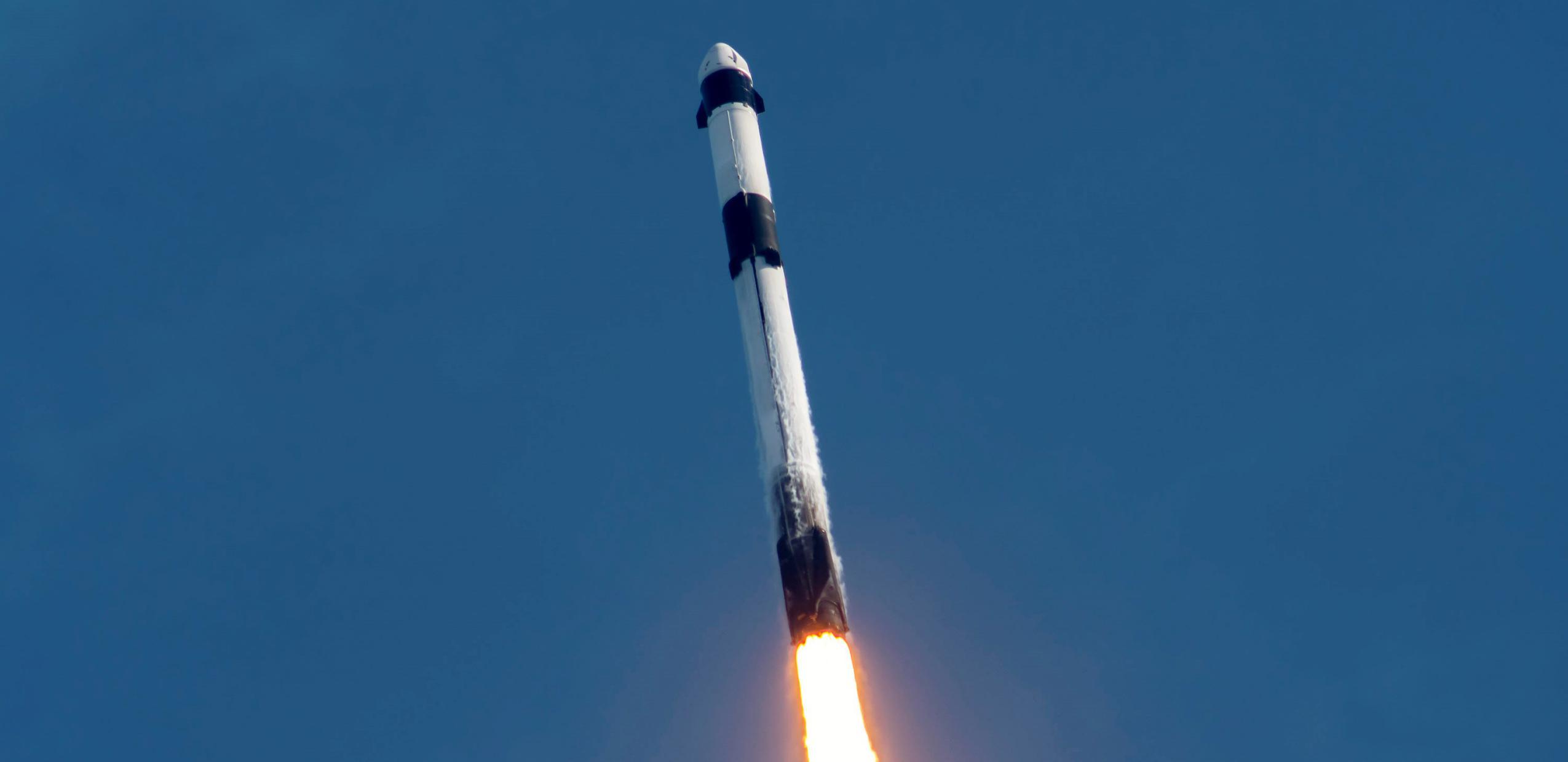 CRS-21 Cargo Dragon 2 Falcon 9 B1058 120620 launch (SpaceX) 6 crop (c)
