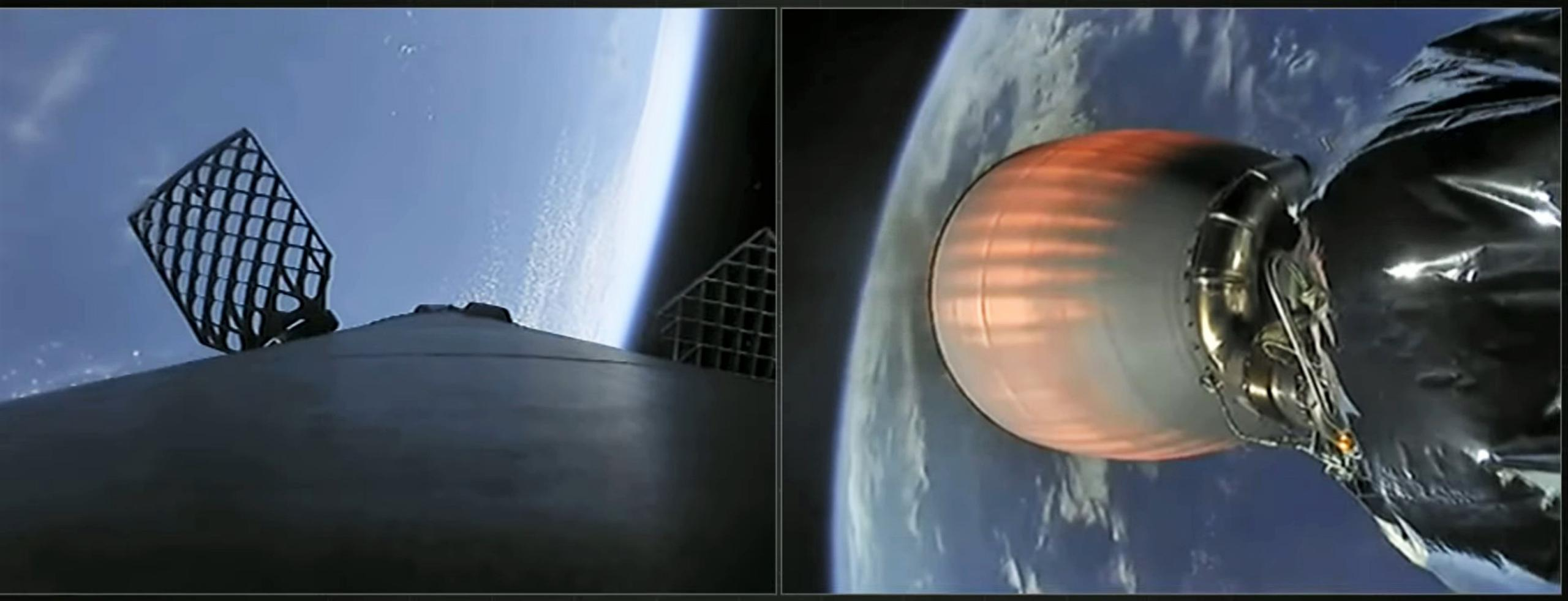CRS-21 Cargo Dragon 2 Falcon 9 B1058 120620 webcast (SpaceX) recovery 1 (c)