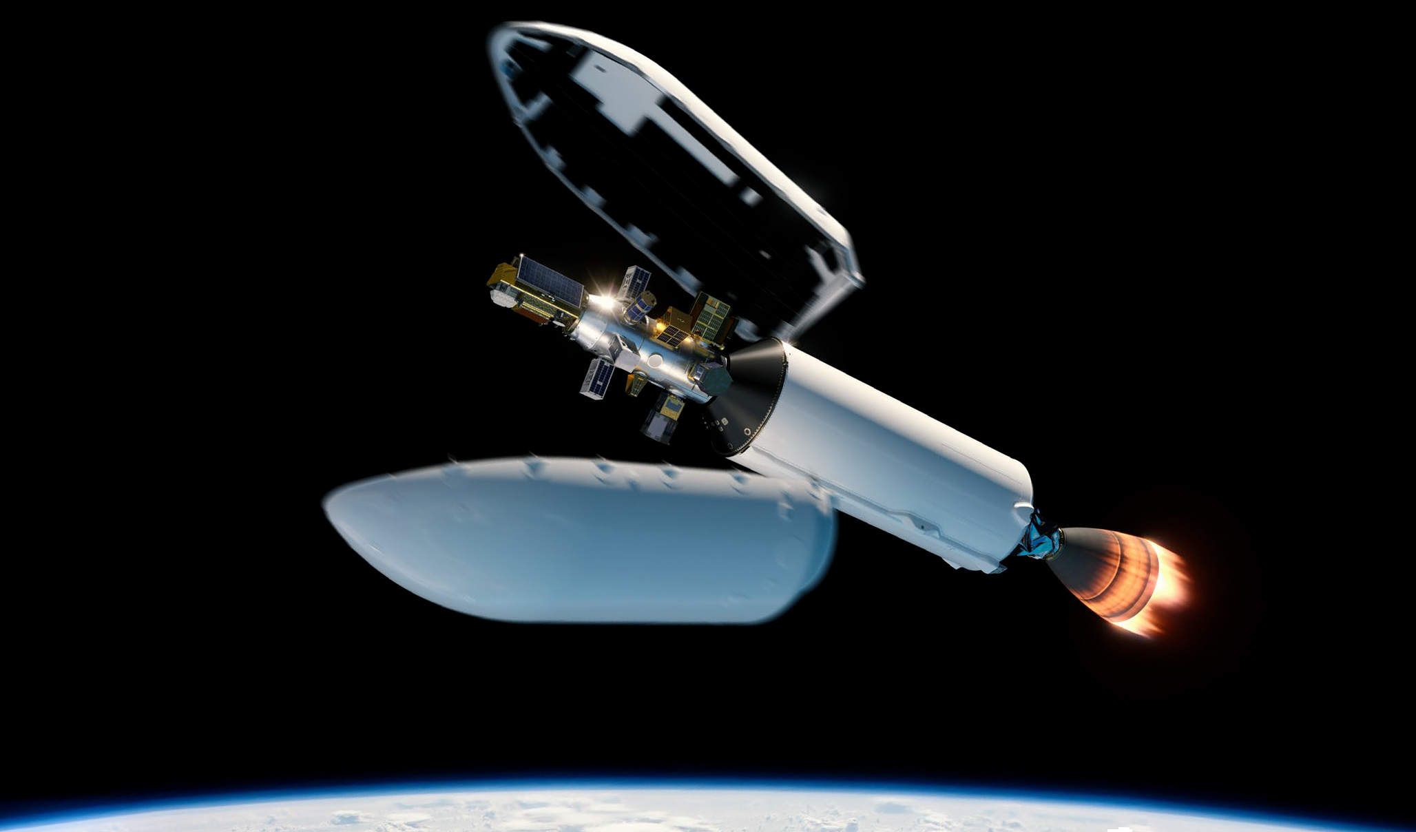 Smallsat Program Falcon 9 S2 render (SpaceX) 2 edit