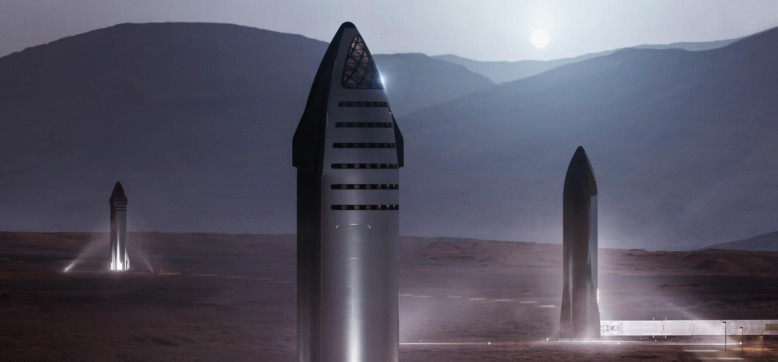 Starship 2019 Mars base render (SpaceX) 1 crop close (c)