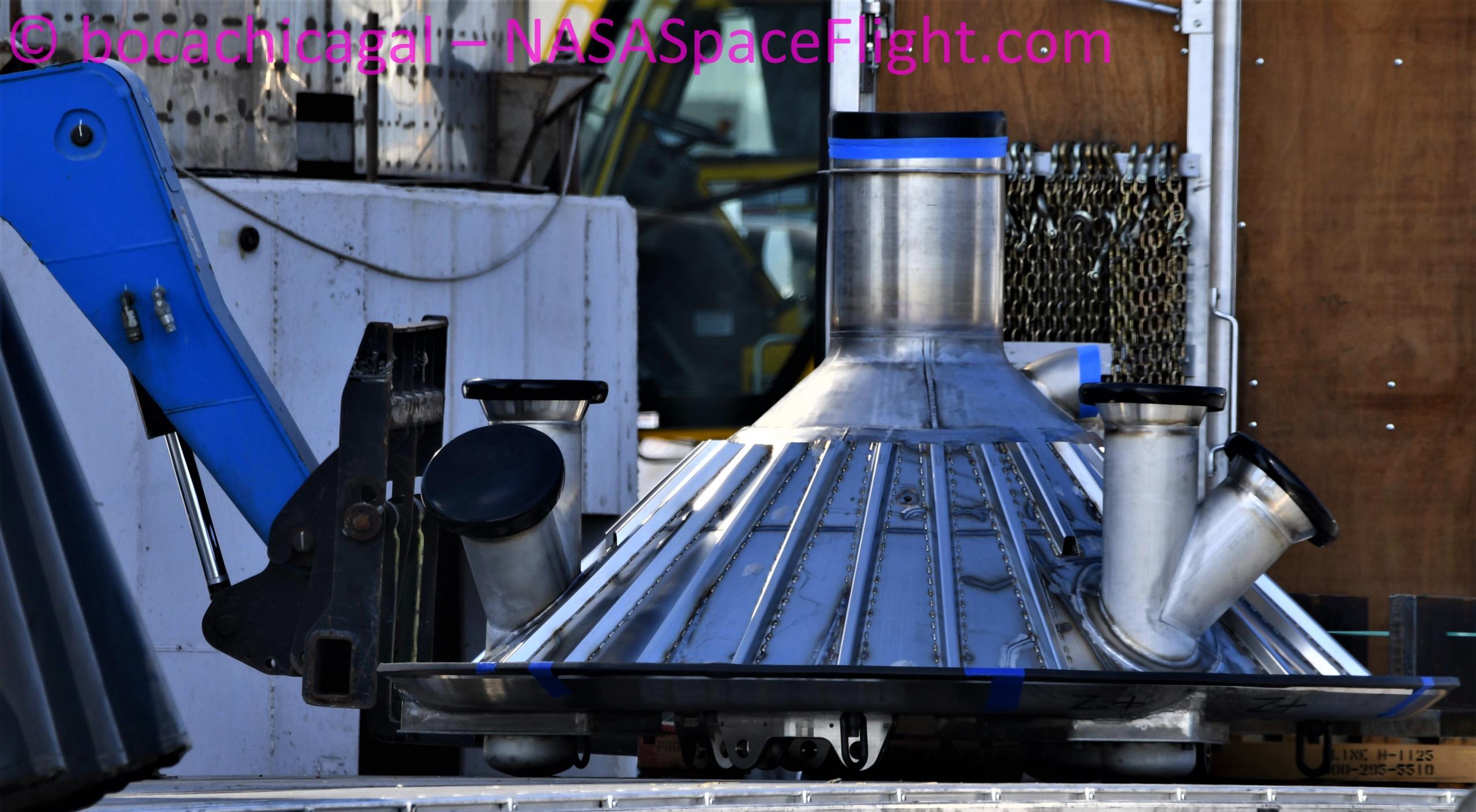 Starship Boca Chica 112720 (NASASpaceflight – bocachicagal) thrust puck 1 crop (c)