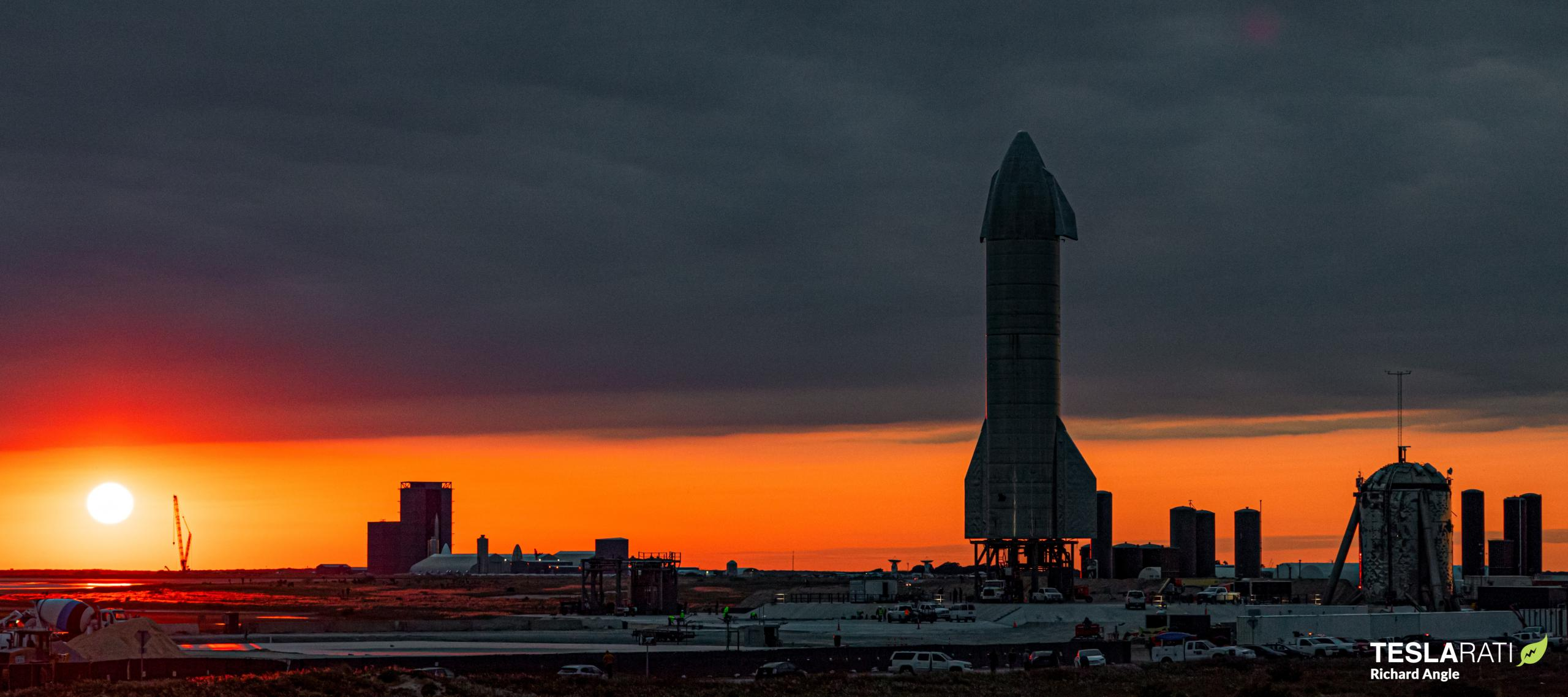 Starship Boca Chica 120320 (Richard Angle) SN8 pad + build site overview sunset 1 crop 4 (c)