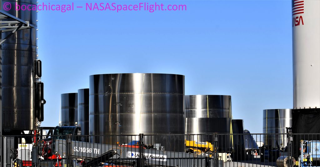Starship Boca Chica 120720 NASASpaceflight bocachicagal ring work 1 crop SpaceX Boca Chica