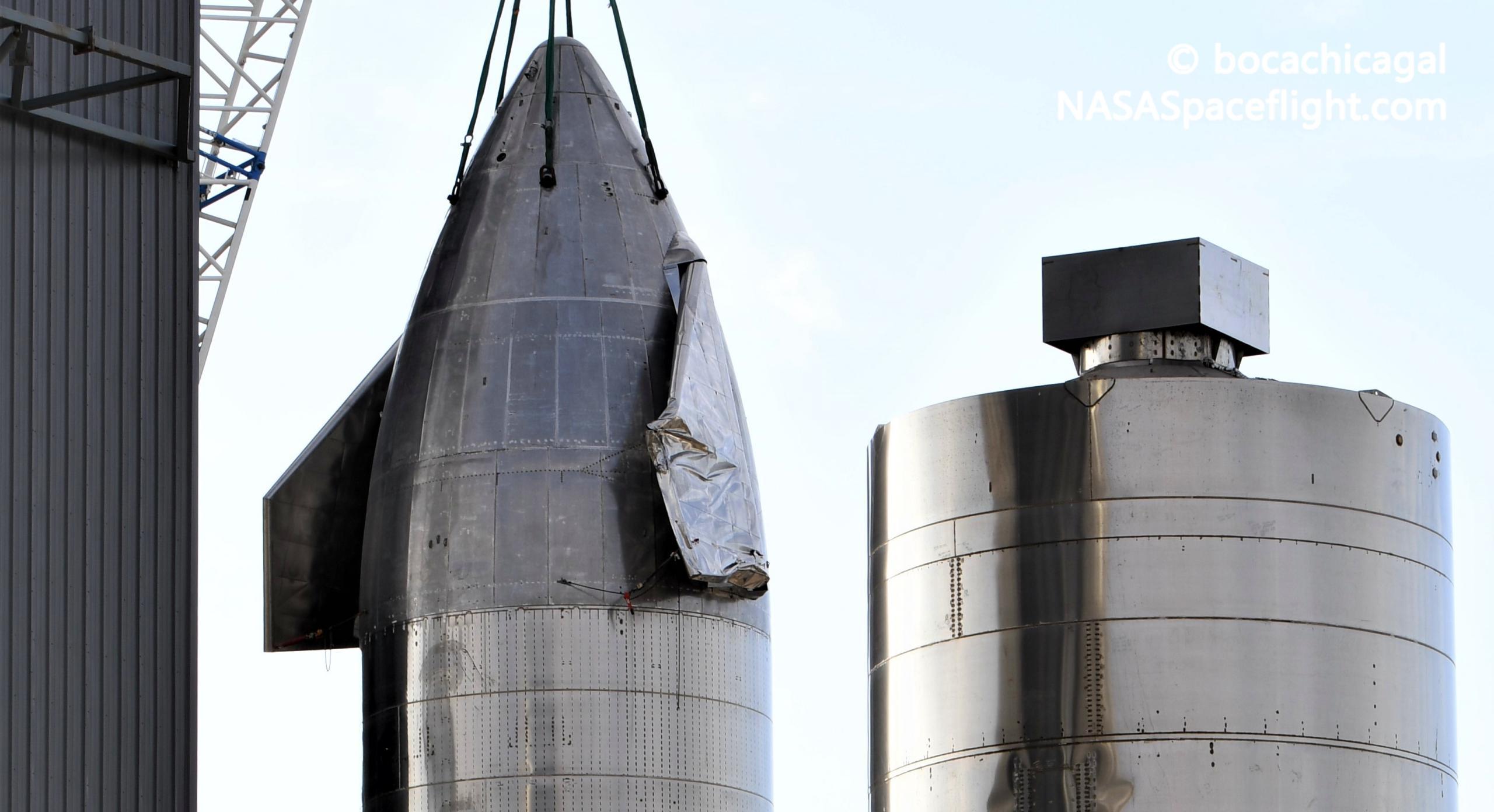 Starship Boca Chica 121420 (NASASpaceflight – bocachicagal) SN9 recovery + SN5 1 (c)