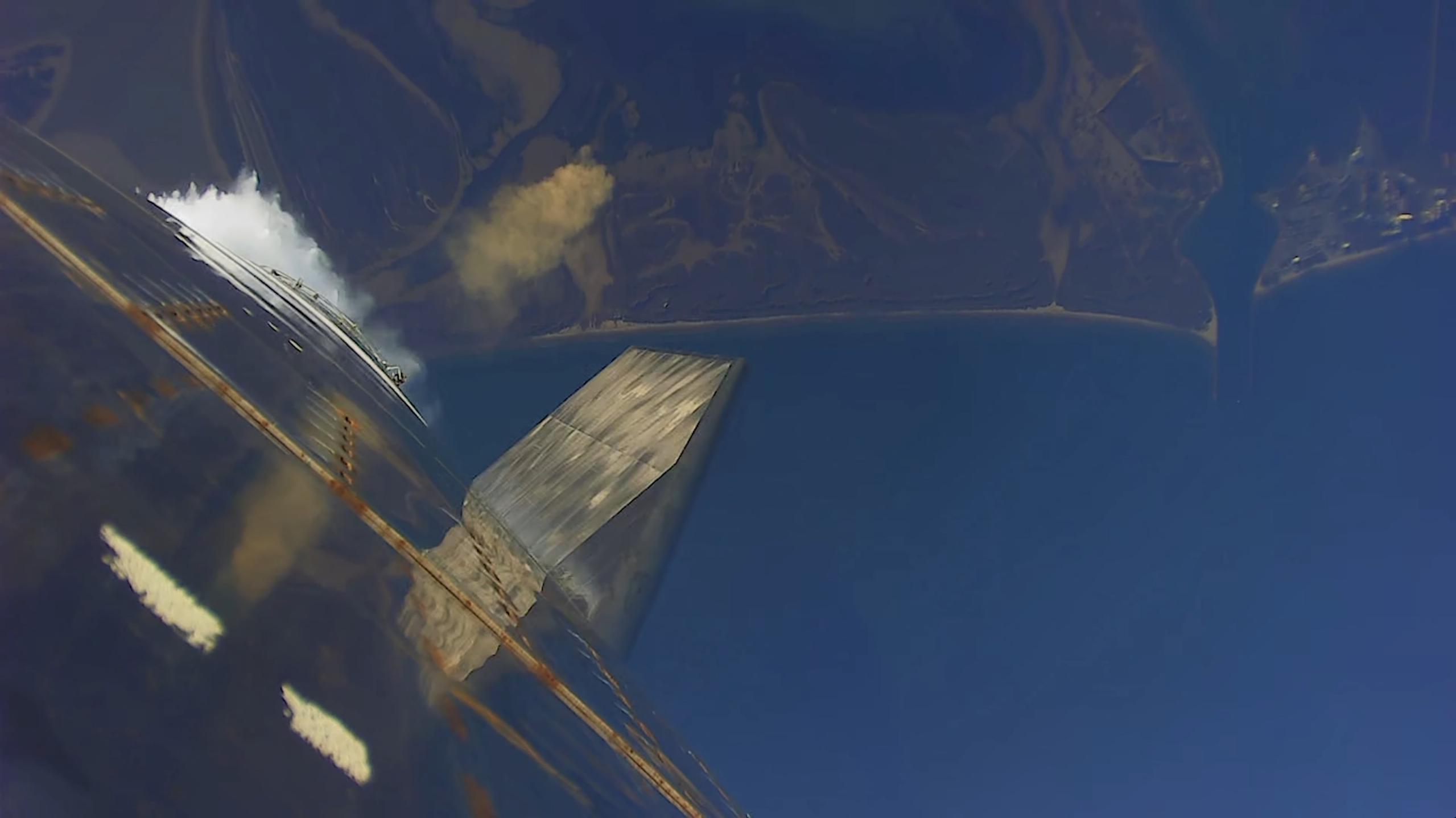 Starship SN8 launch recap 120920 (SpaceX) descent 1 (c)