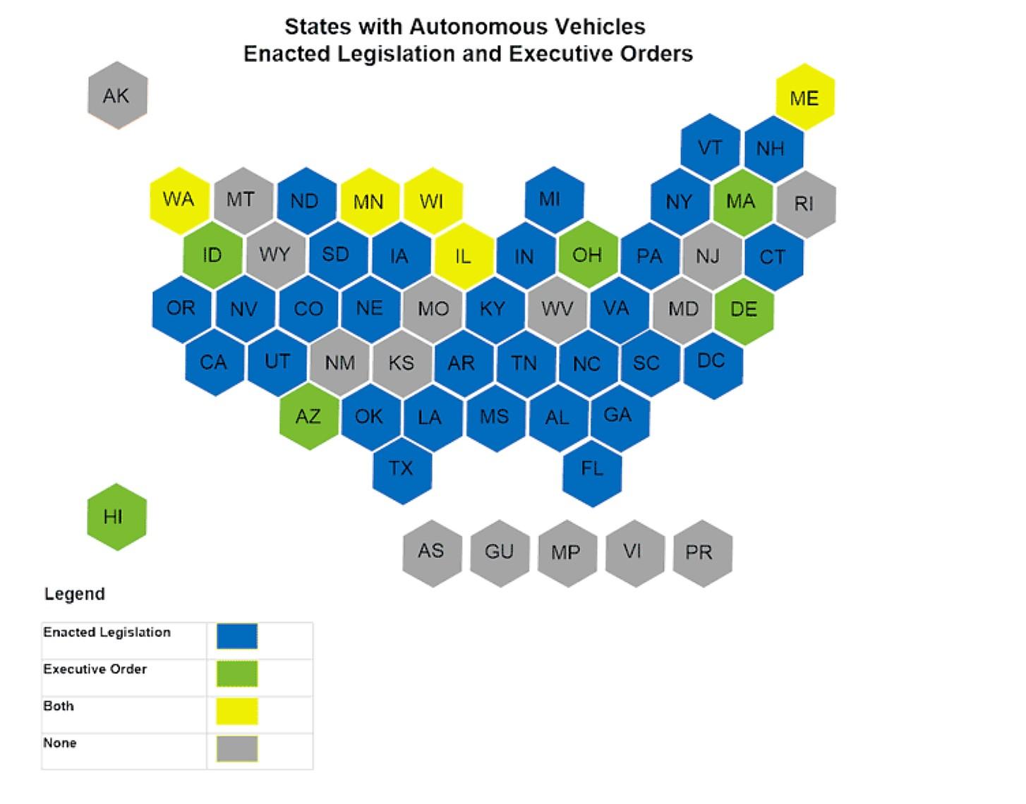 states-with-autonomous-vehicles-enacted-legislation-executive-orders