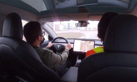 Tesla owner license test on Autopilot