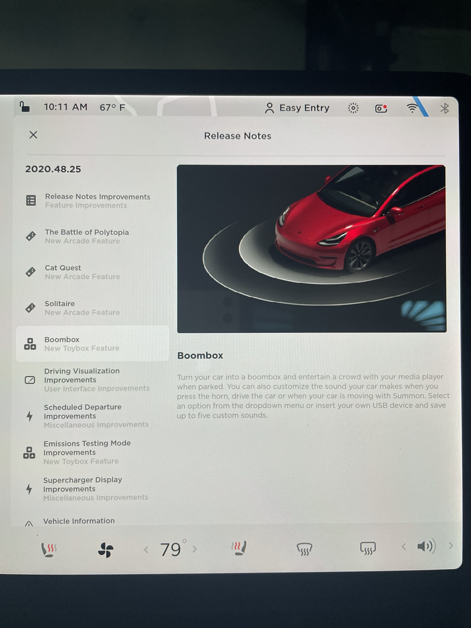 2020 Tesla Holiday Update - Boombox (Credit: Reddit/JCannonTech)