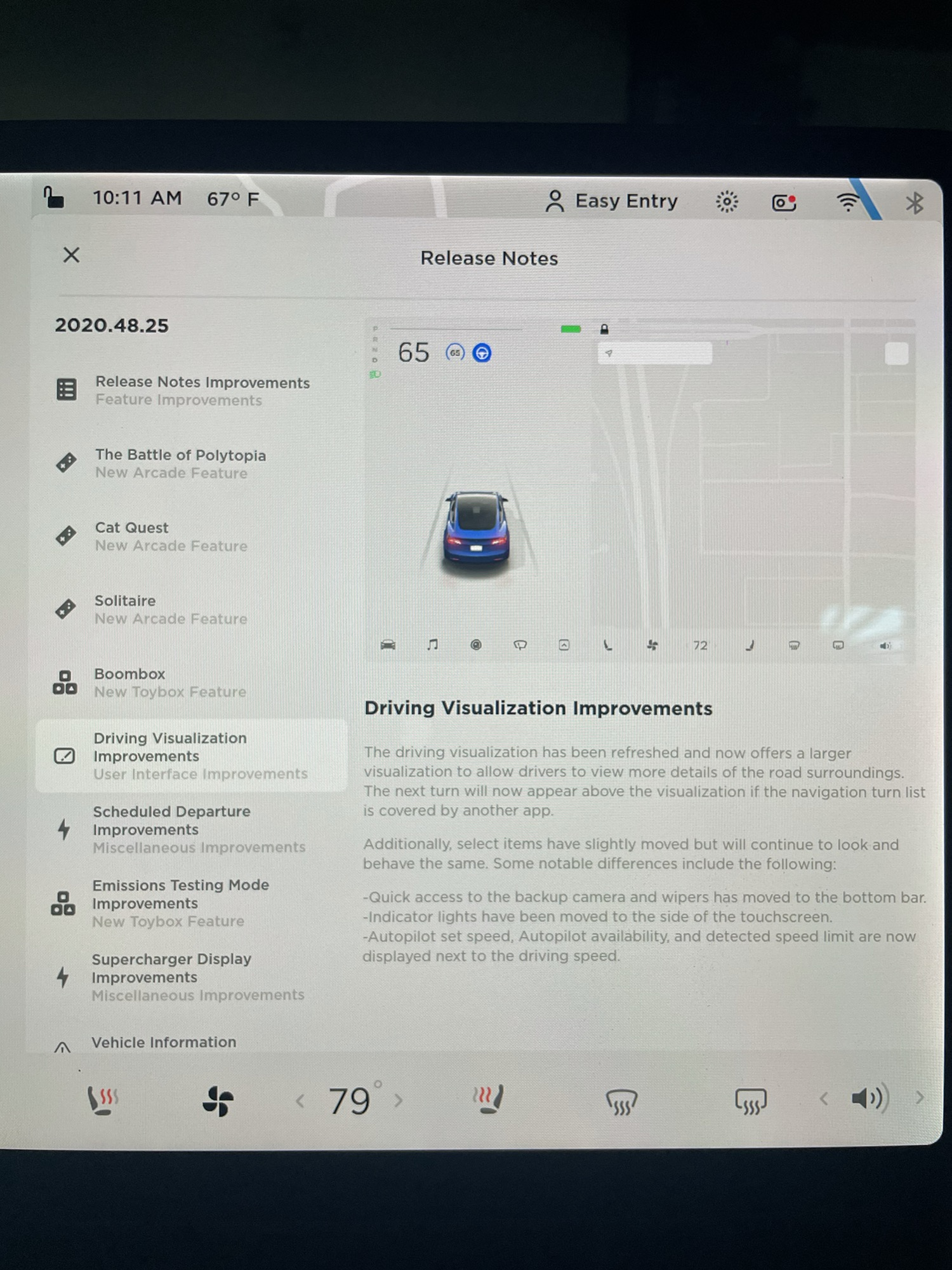 2020 Tesla Holiday Update - Driving Visualizations (Credit: Reddit/JCannonTech)