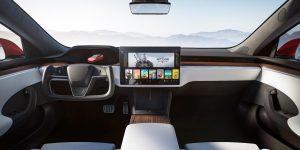 Tesla Model S interior touchscreen (refresh)